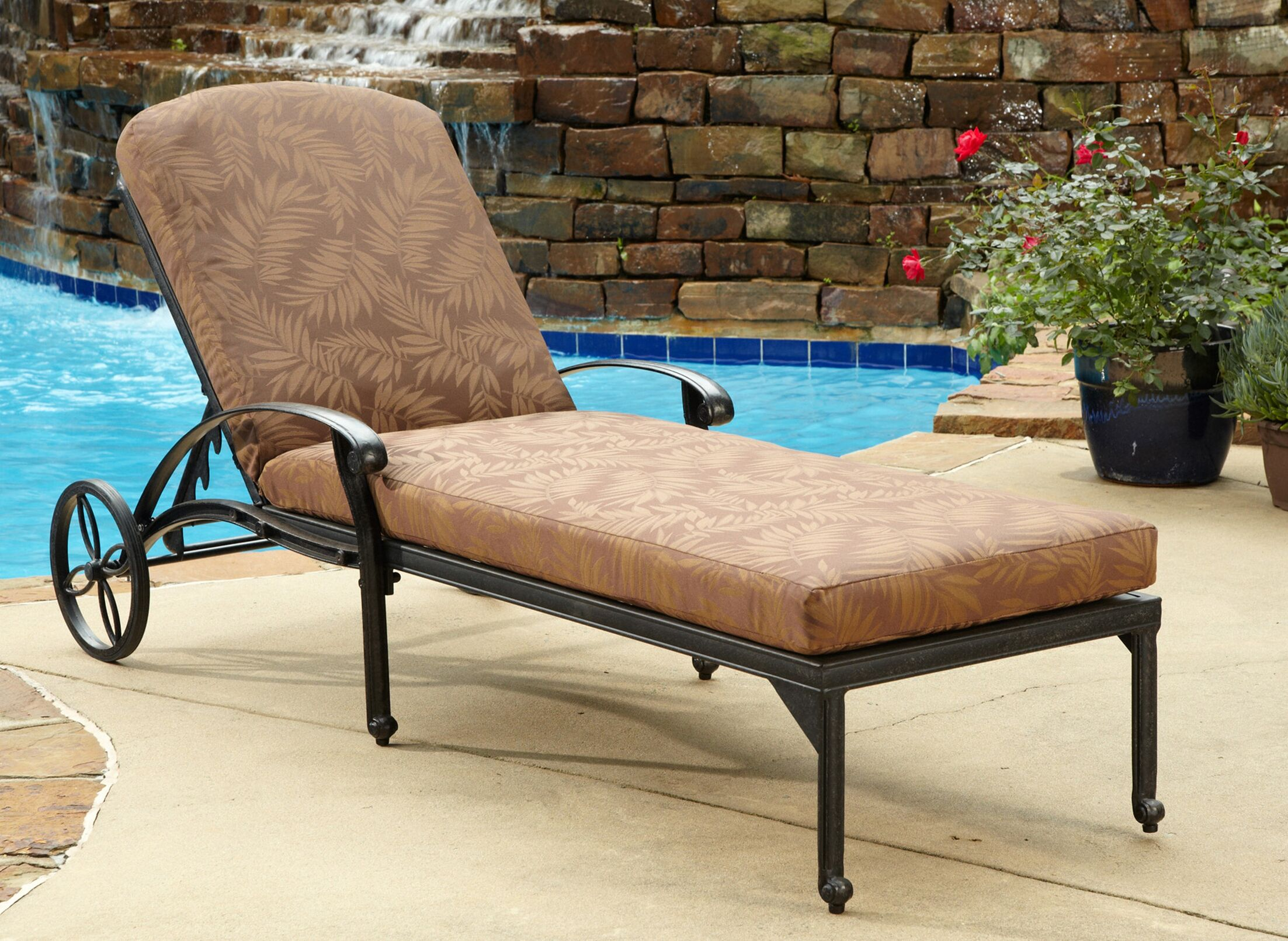 Arrey Chaise Lounge with Cushion Finish: Charcoal