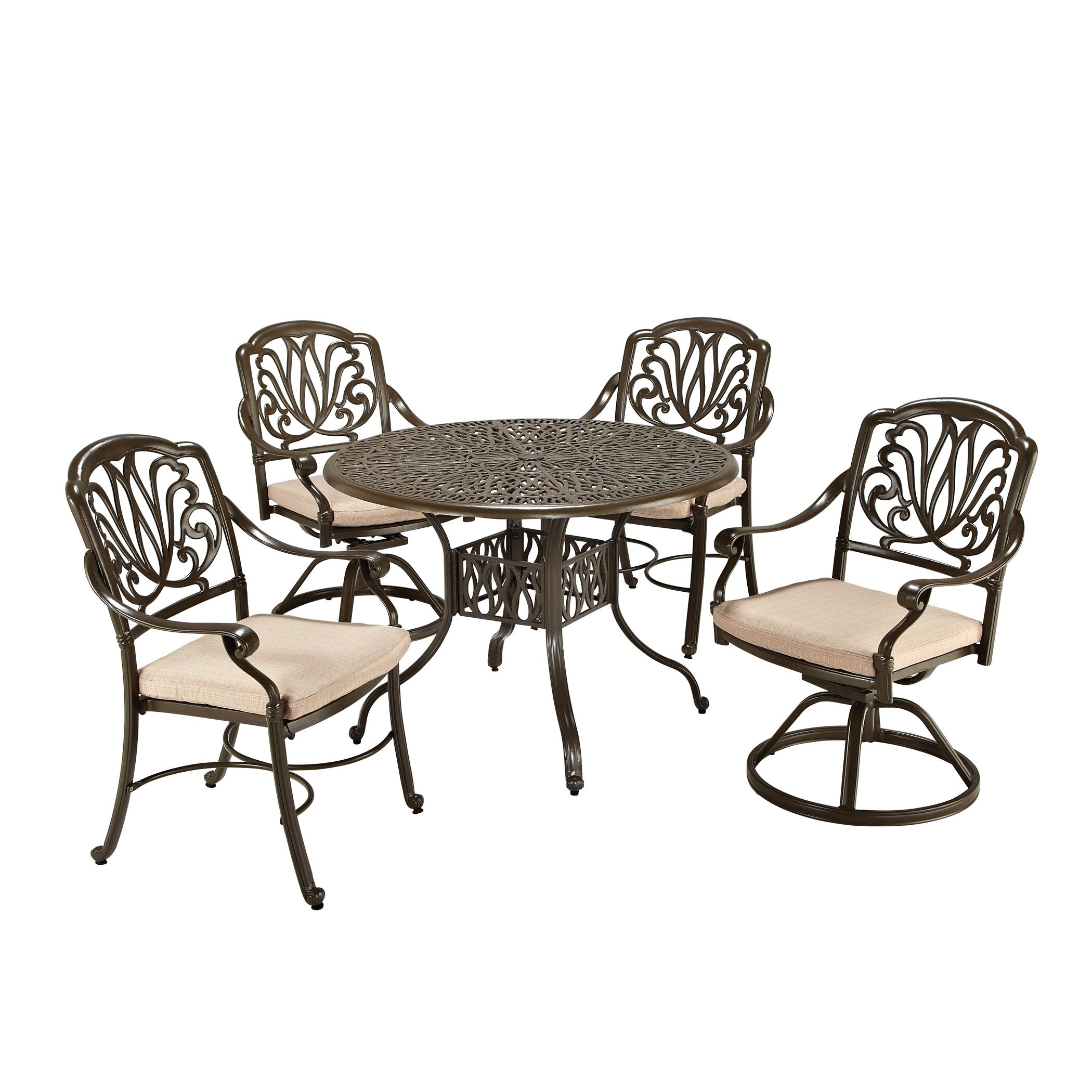 Regent 5 Piece Dining Set with Cushions Size: 42