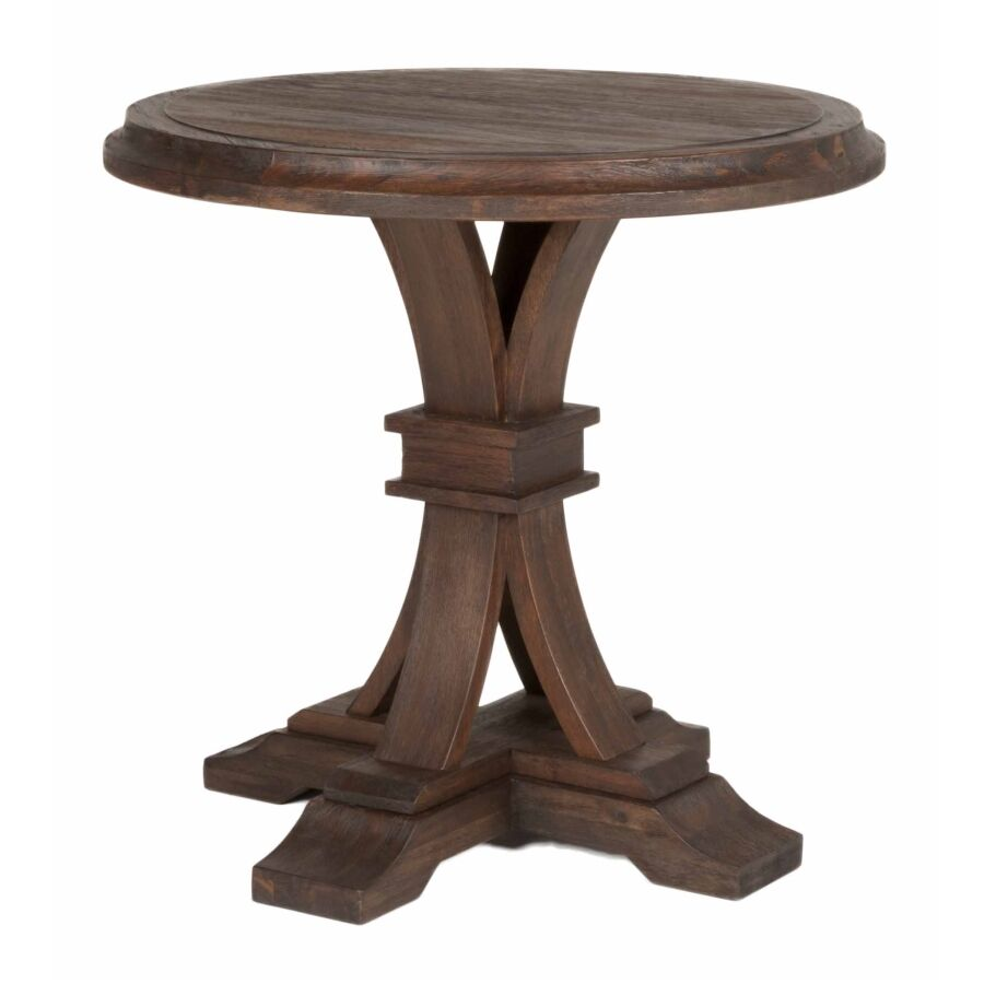 Parfondeval Round End Table Color: Rustic Java