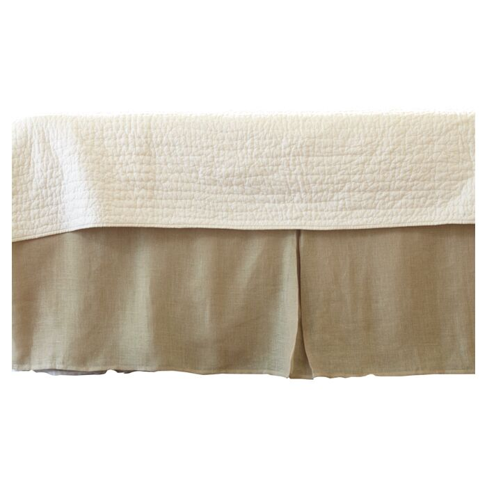 Cherry Linen Voile Bed Skirt Size: Queen, Color: Natural