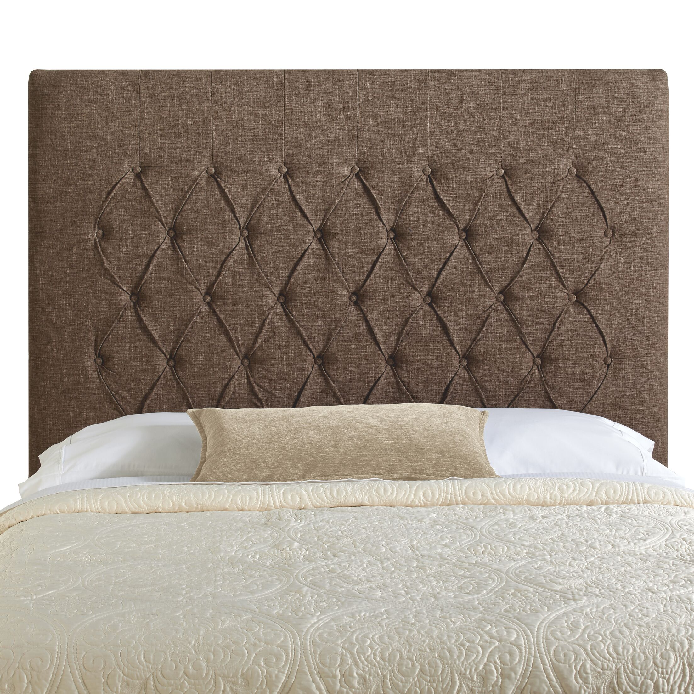 Laurent Upholstered Panel Headboard Upholstery: Brown, Size: Full