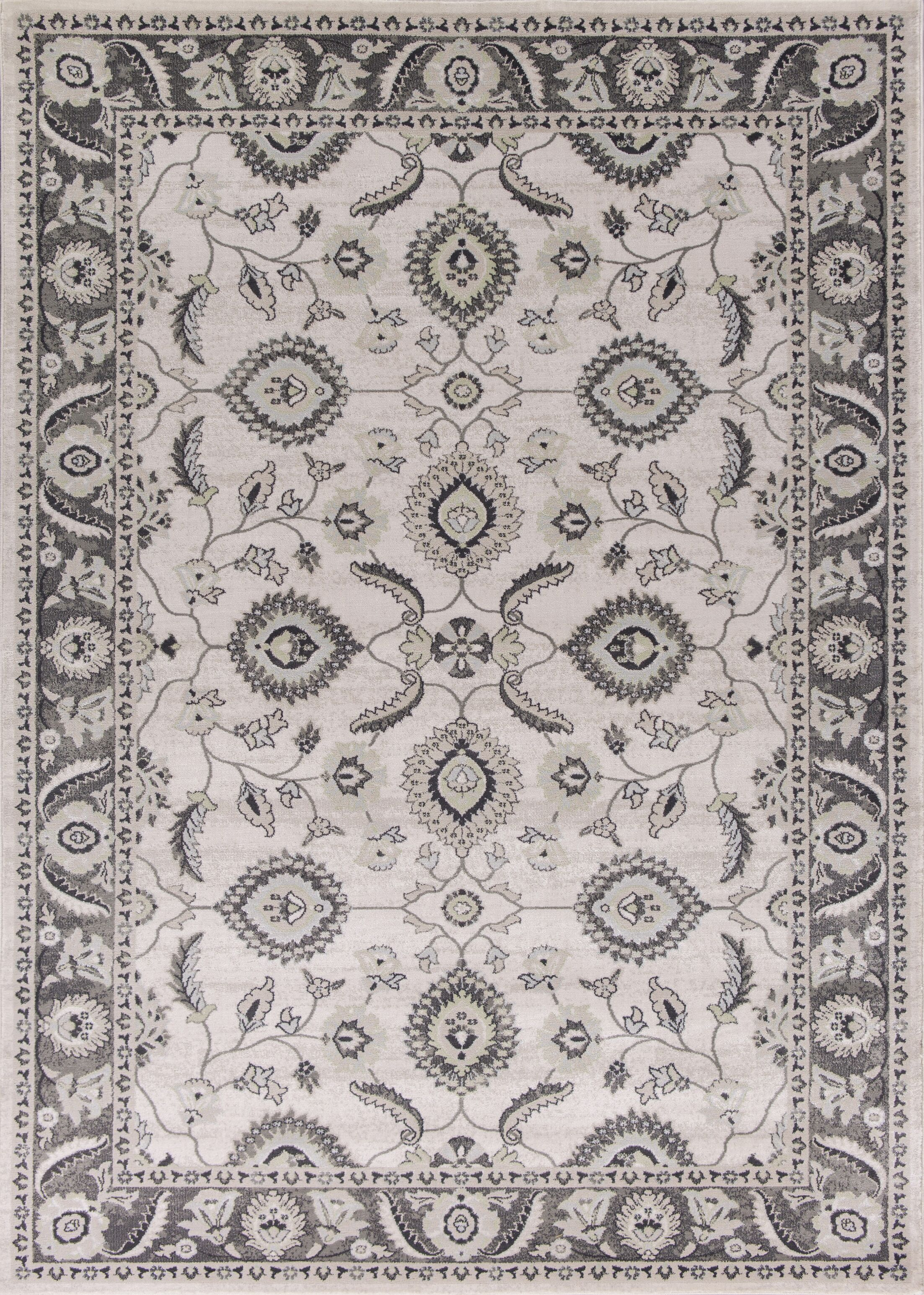Lejeune Gray/Ivory Area Rug Rug Size: Rectangle 7'10
