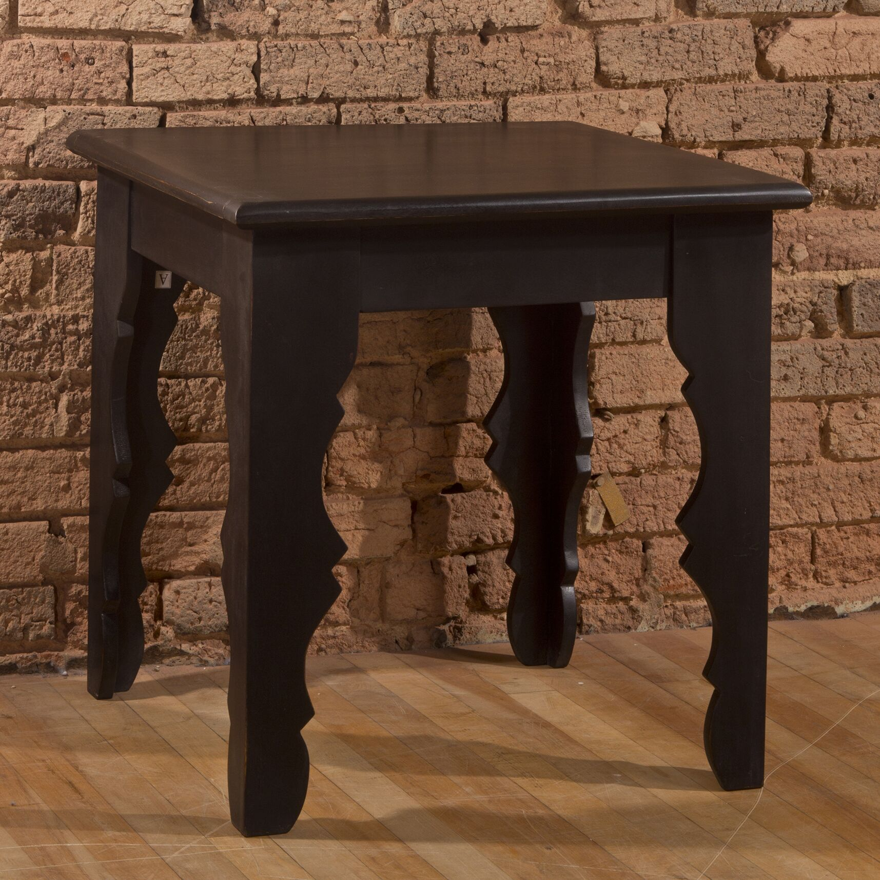 Jarne End Table Color: Distressed Black