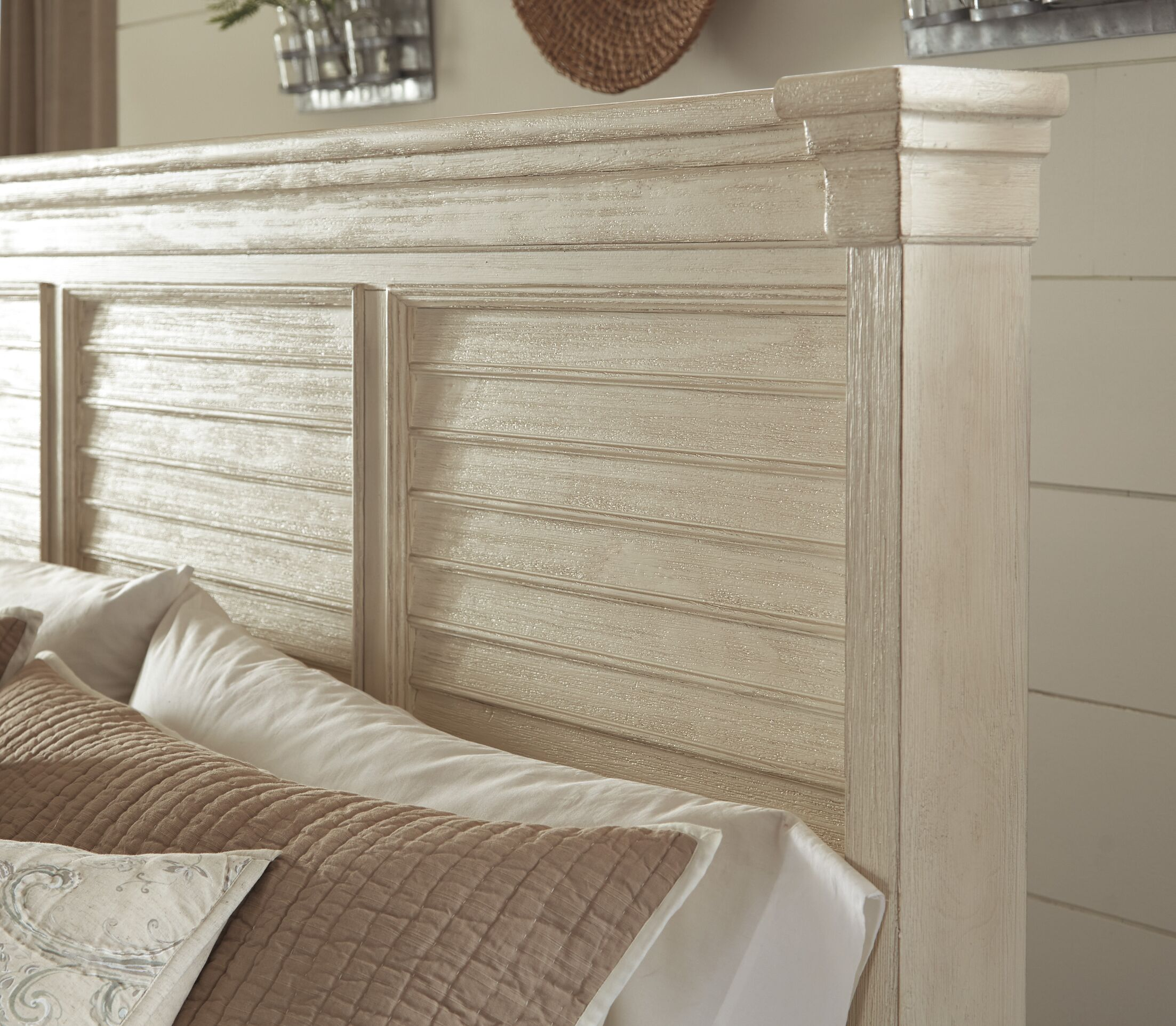 Alsace Panel Wood Headboard Size: King