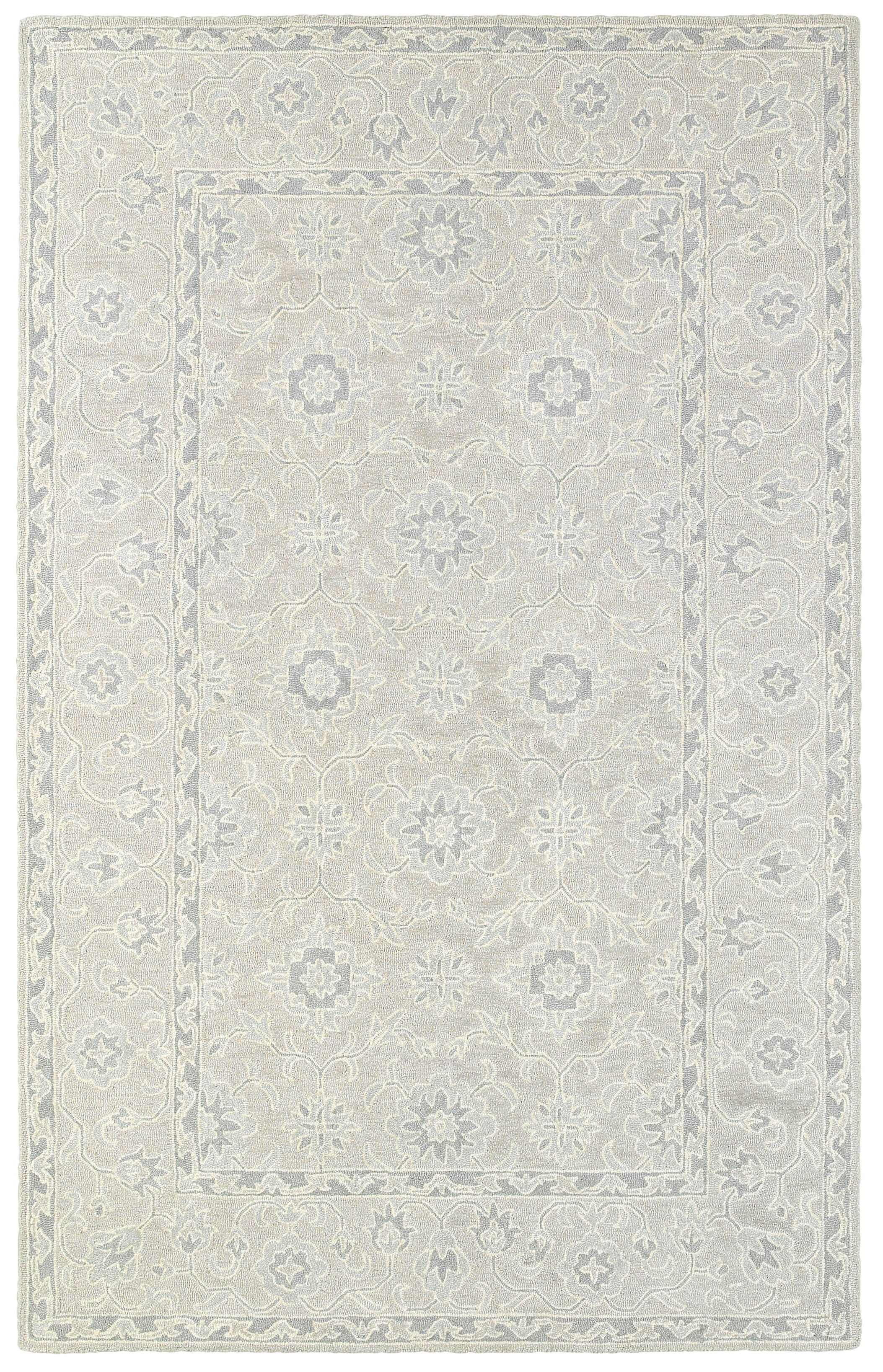 Reveles Hand-Tufted Oriental Beige/Gray Area Rug Rug Size: Rectangle 10' x 12'11