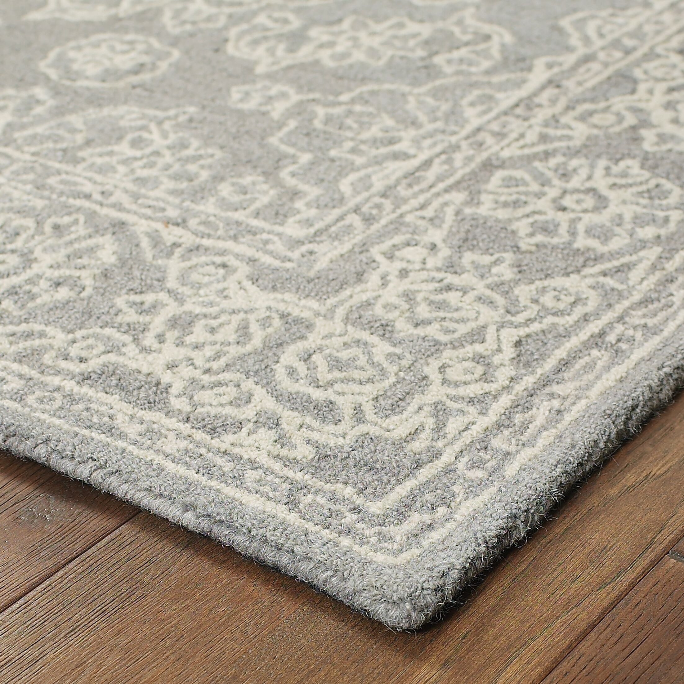 Toussaint Hand-Tufted Gray Area Rug Rug Size: Rectangle 8' x 10'