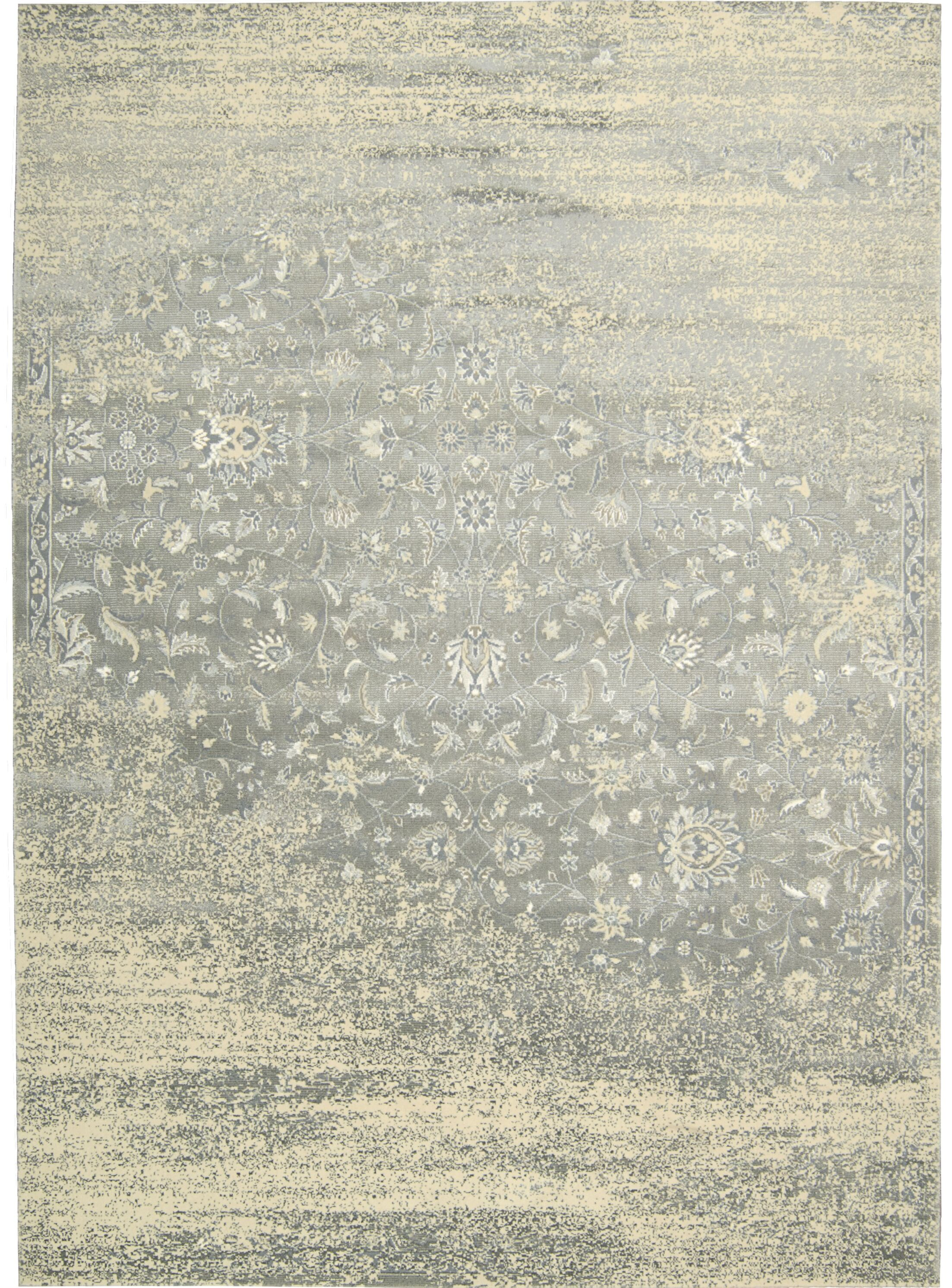 Bourgault Silver Area Rug Rug Size: Rectangle 9'3