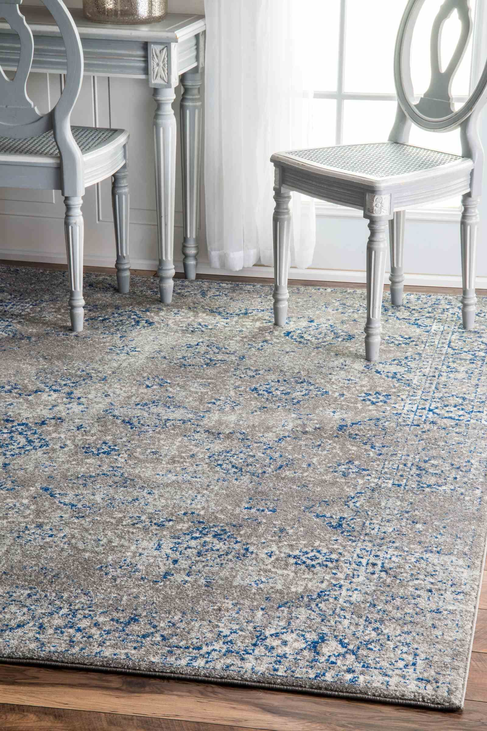 Avallon Faded Dark Blue Area Rug Rug Size: Rectangle 6' 7