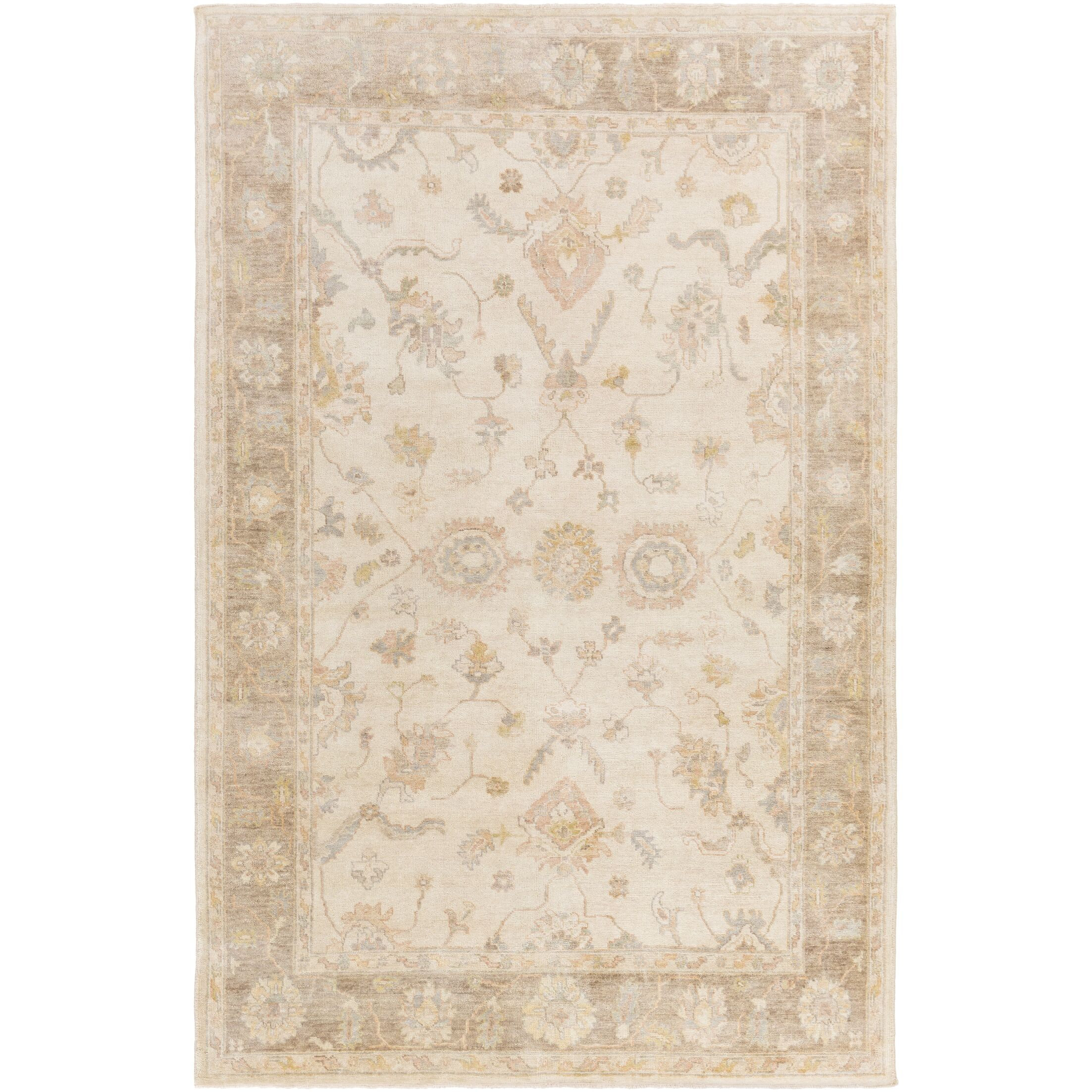 Loire Hand-Knotted Ivory Area Rug Rug Size: Rectangle 4' x 6'