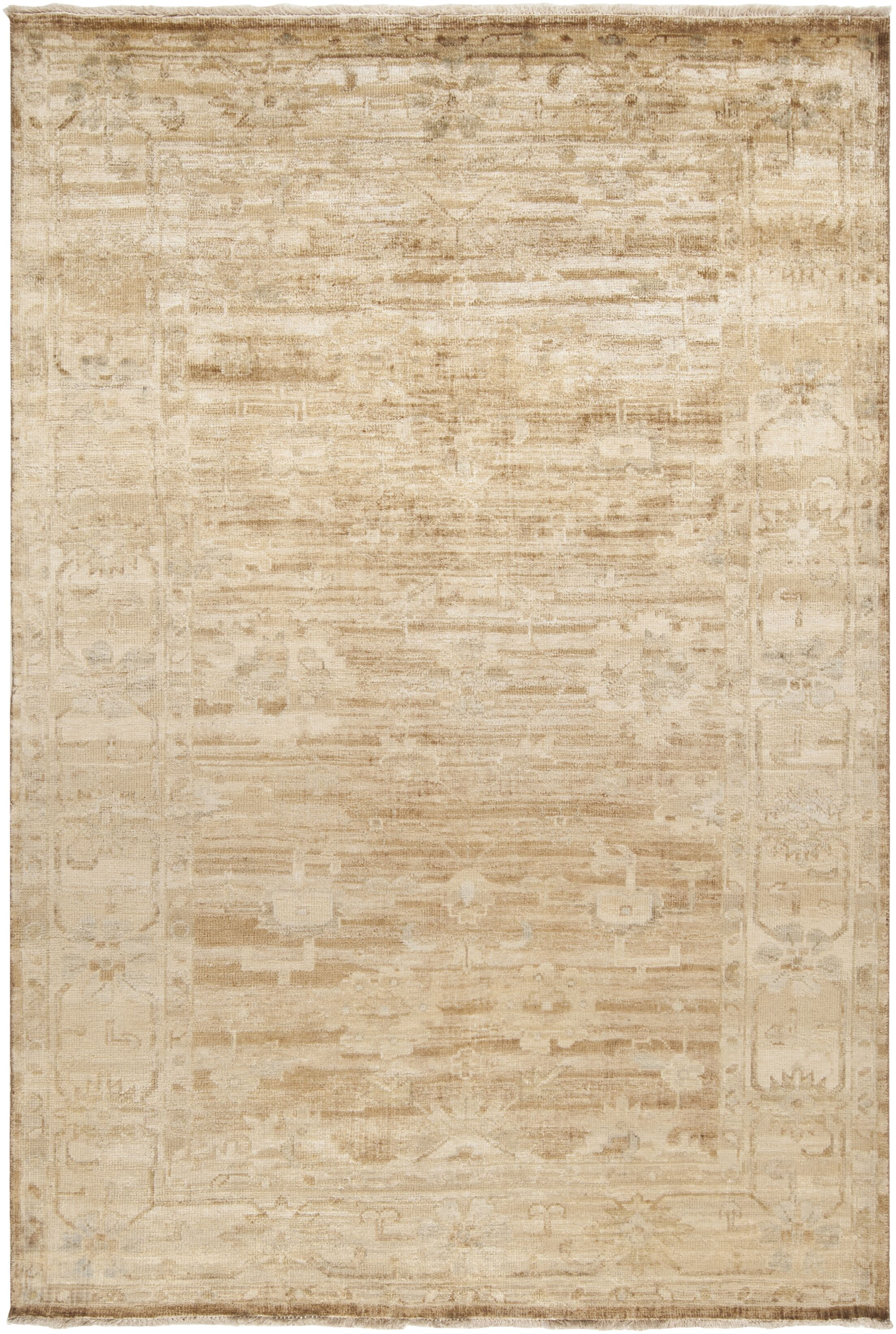 Talence Biscotti/Ivory Oriental Area Rug Rug Size: Rectangle 5'6