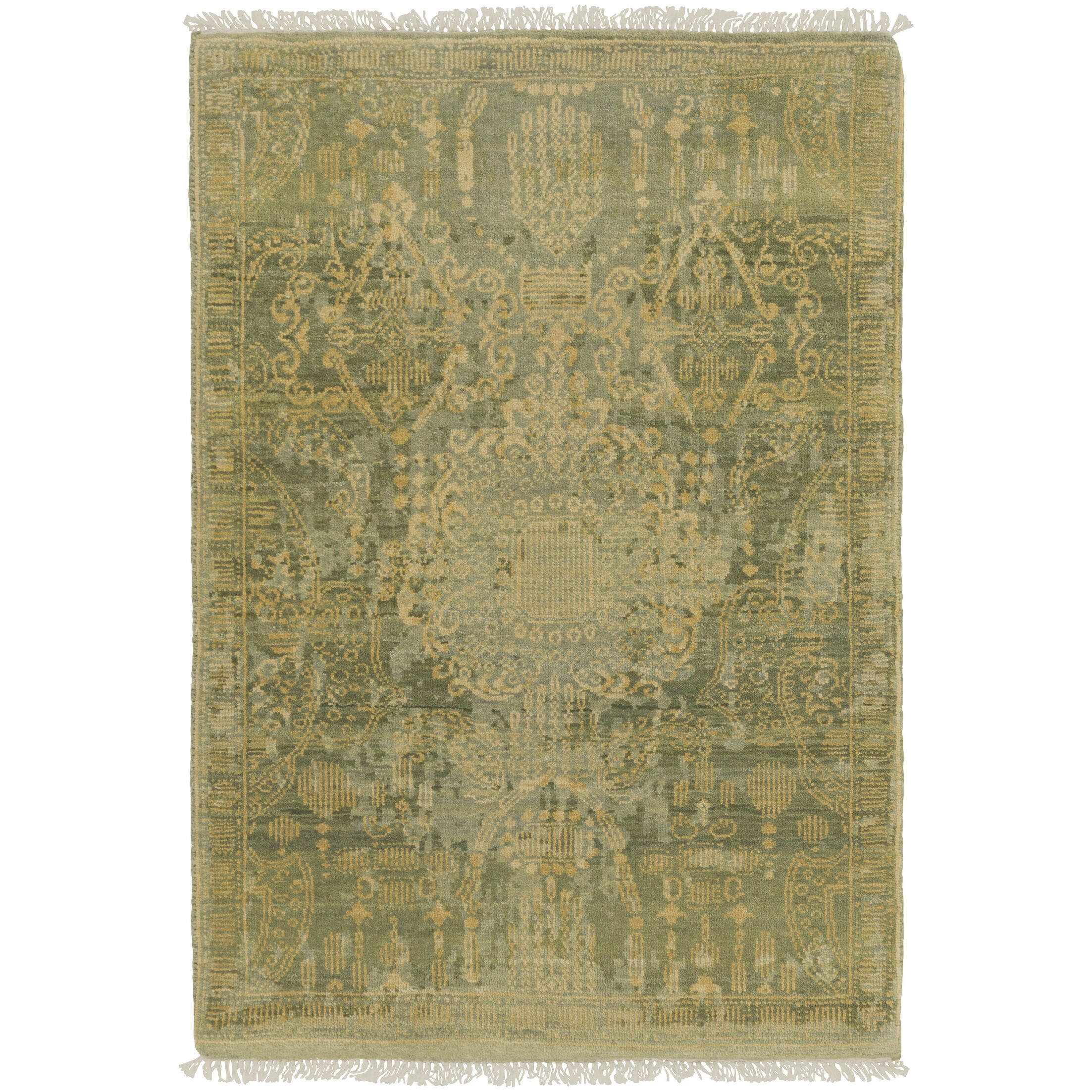 Vivier Hand-Knotted Tan Area Rug Rug Size: 9' x 12'