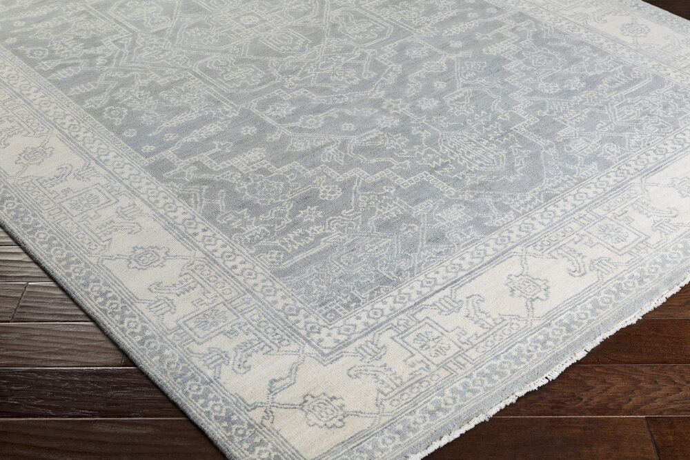 Naelle Hand-Knotted Light Gray Area Rug Rug Size: 2' x 3'