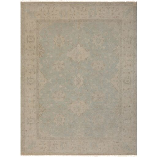 Andelle Hand-Knotted Gray/Brown Area Rug Rug Size: Rectangle 8' x 10'