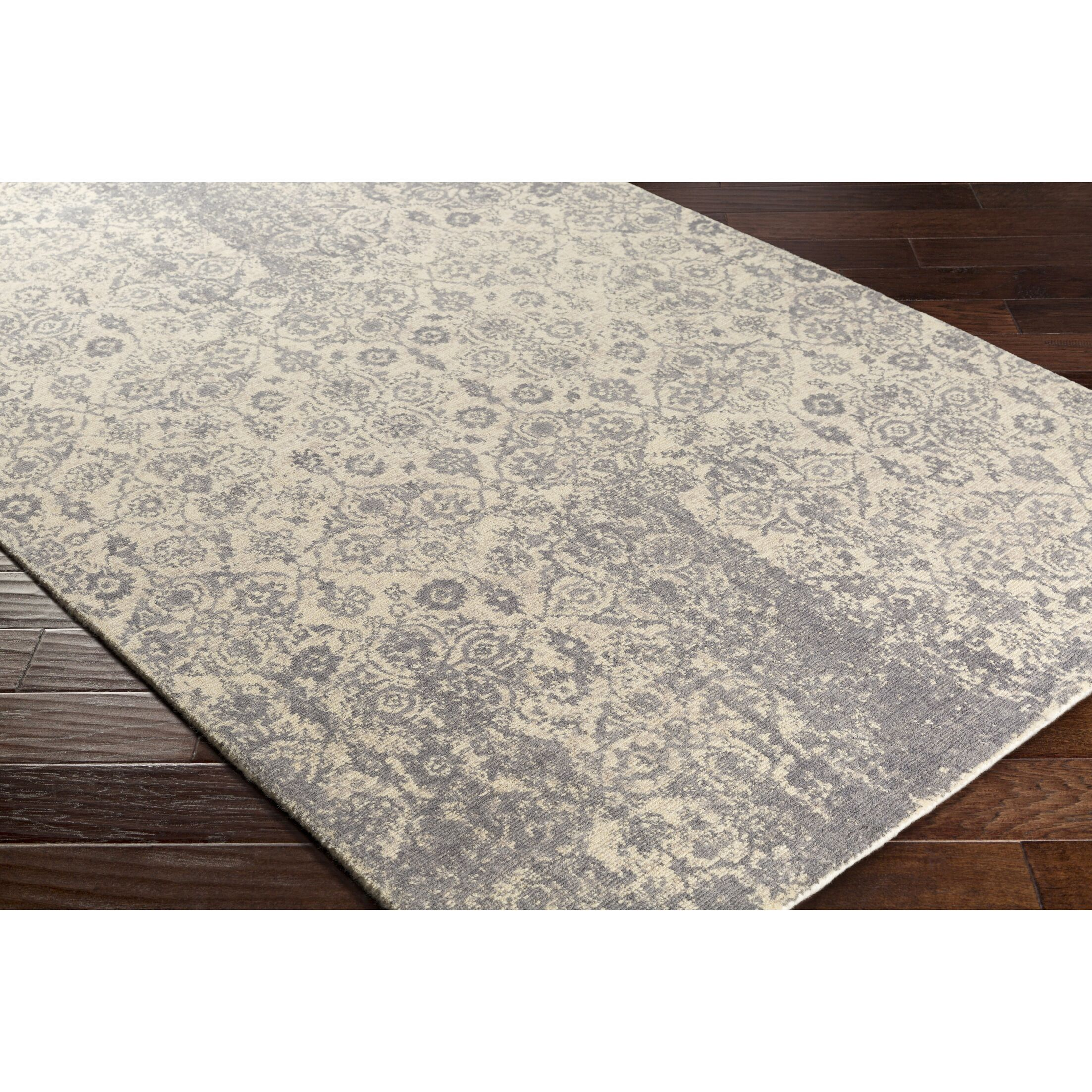 Riggins Hand-Crafted Neutral/Gray Area Rug Rug Size: Rectangle 8' x 10'
