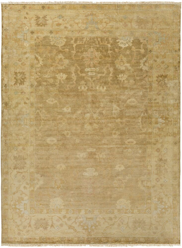 Kangley Traditional Wool Beige Area Rug Rug Size: Rectangle 8' x 11'