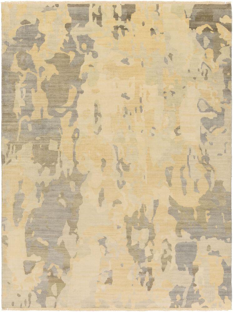 Seema Sea Foam/Olive Abstract Area Rug Rug Size: 5'6