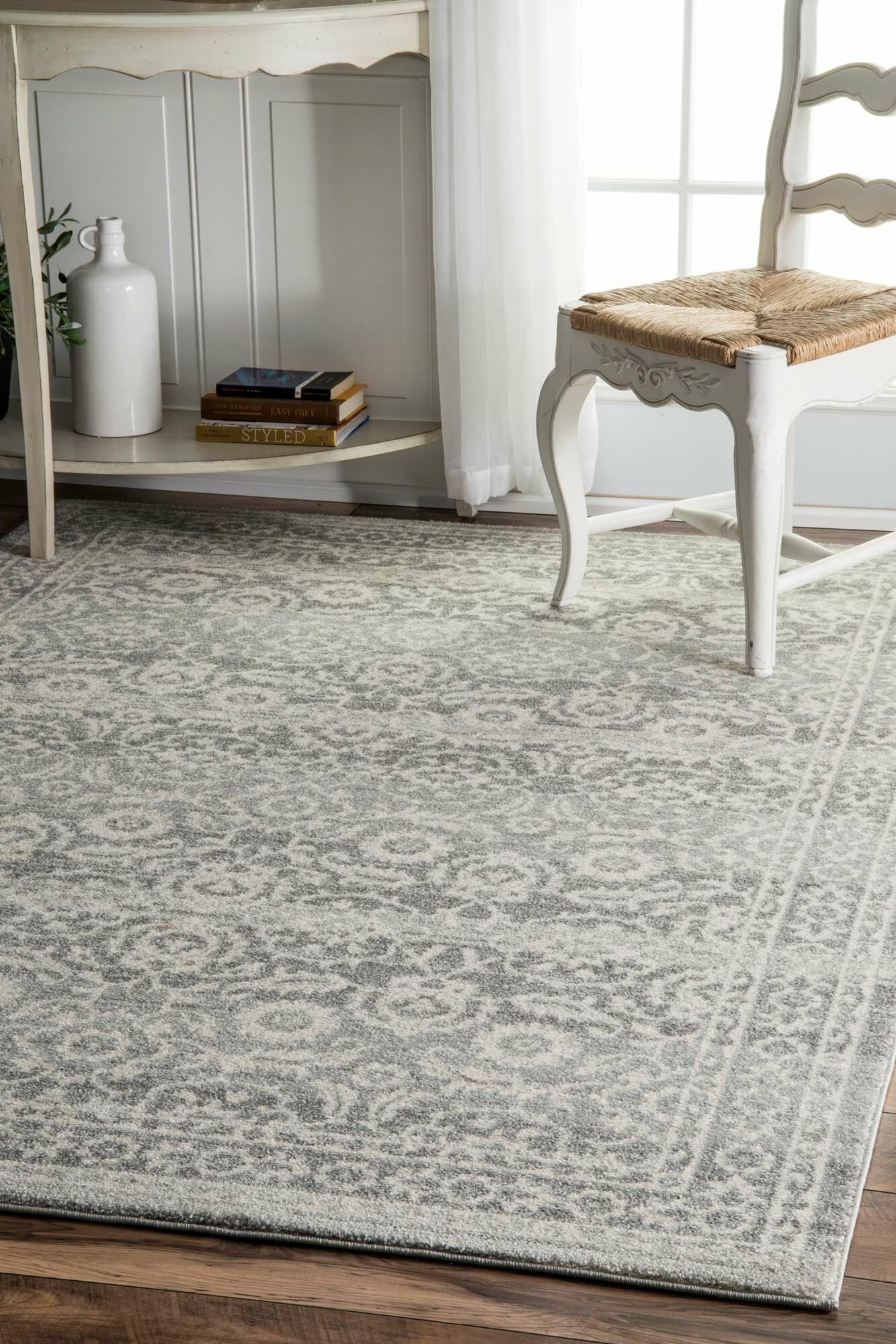 Valois Gray Area Rug Rug Size: Rectangle 5' x 7'5