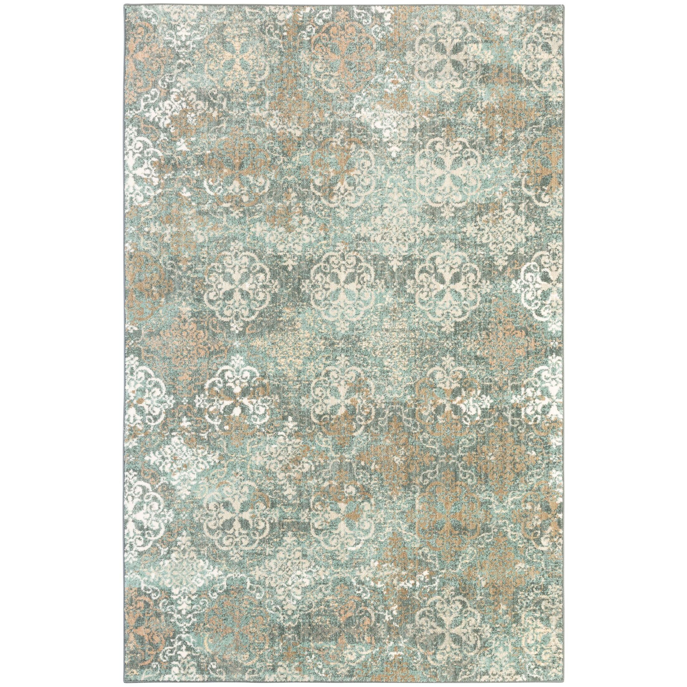 Amani Blue Rug Rug Size: Rectangle 8' x 11'