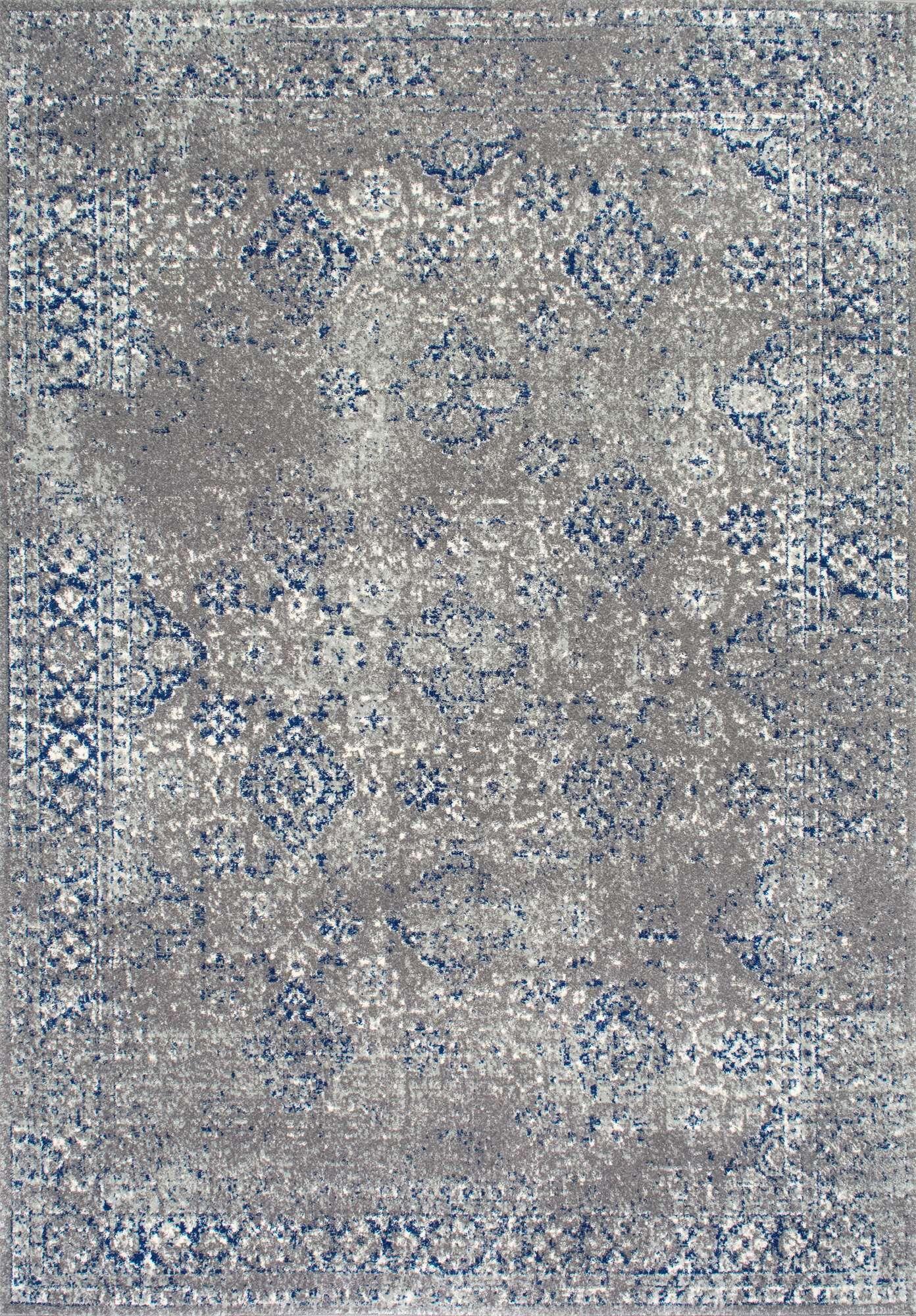 Avallon Faded Dark Blue Area Rug Rug Size: Rectangle 9' x 12'