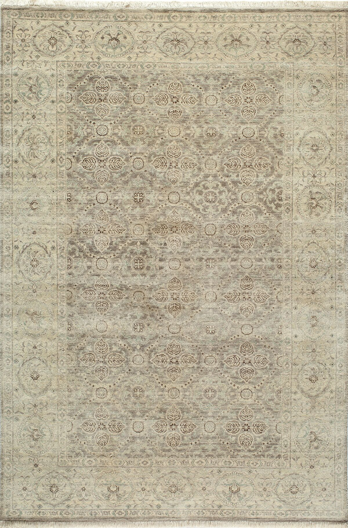 McDonough Hand-Hooked Taupe Area Rug Rug Size: Rectangle 9'6
