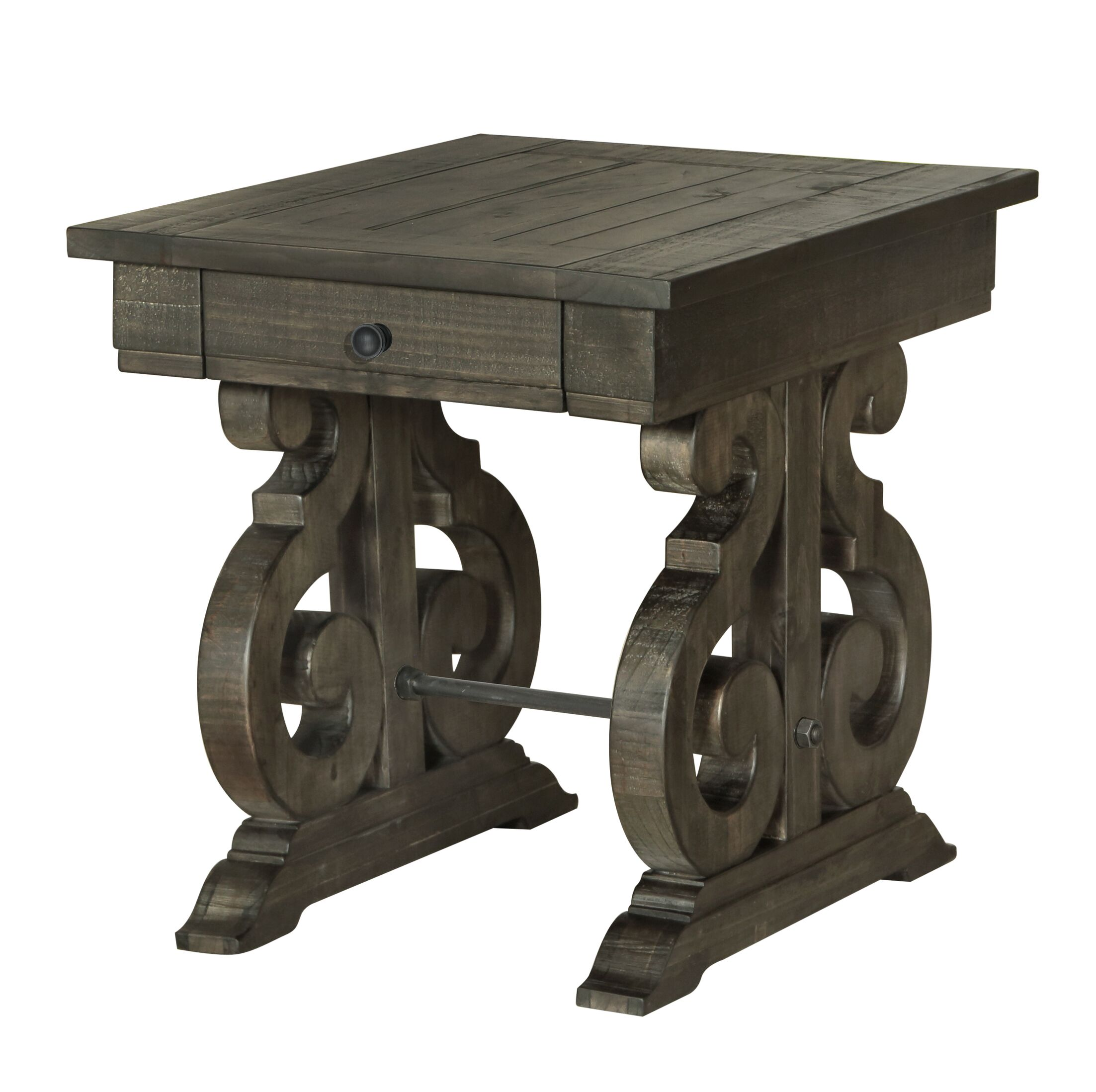 Ellenton End Table with Storage Color: Deep Weathered Pine