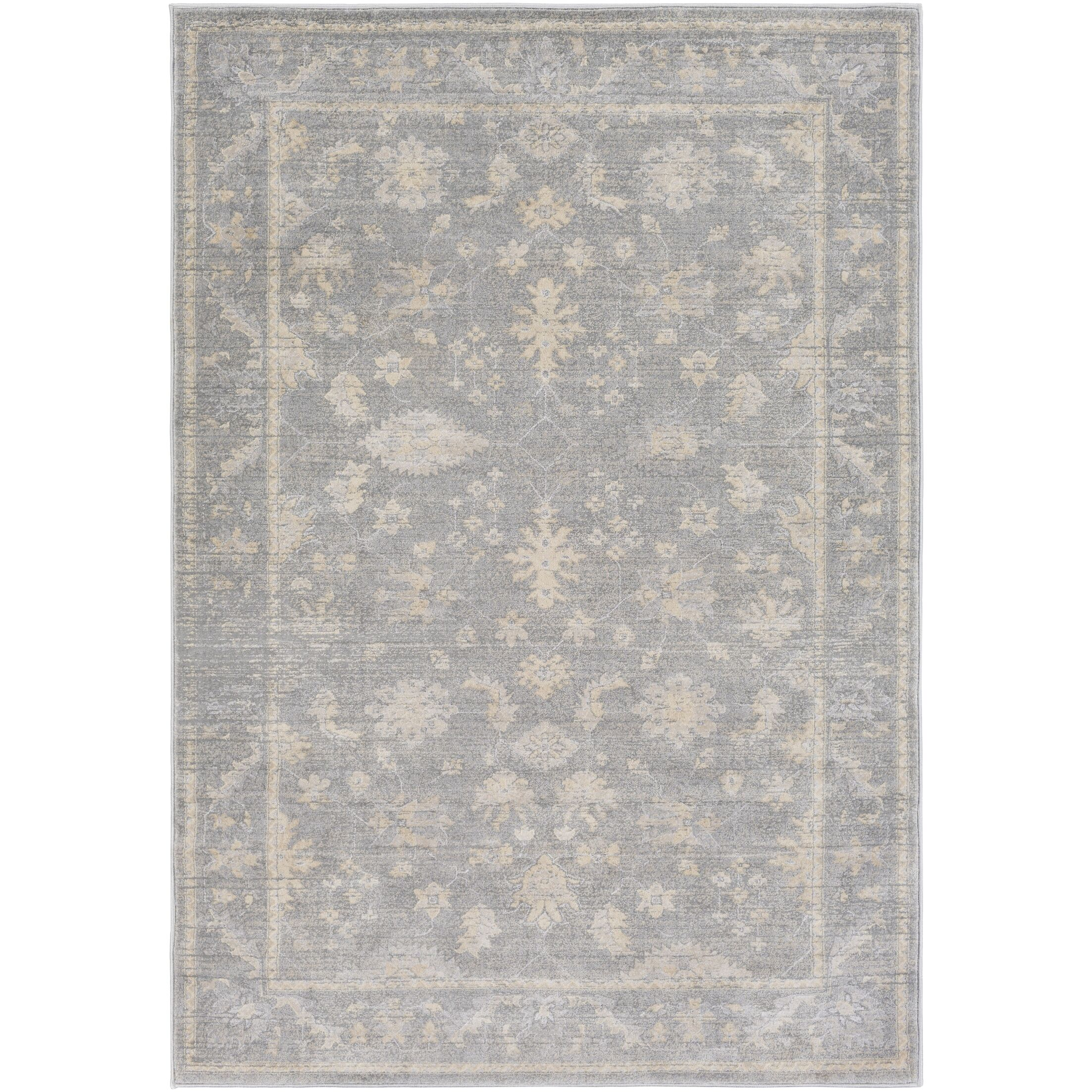 Capri Medium Gray/Taupe Area Rug Rug Size: Rectangle 5' x 7'6