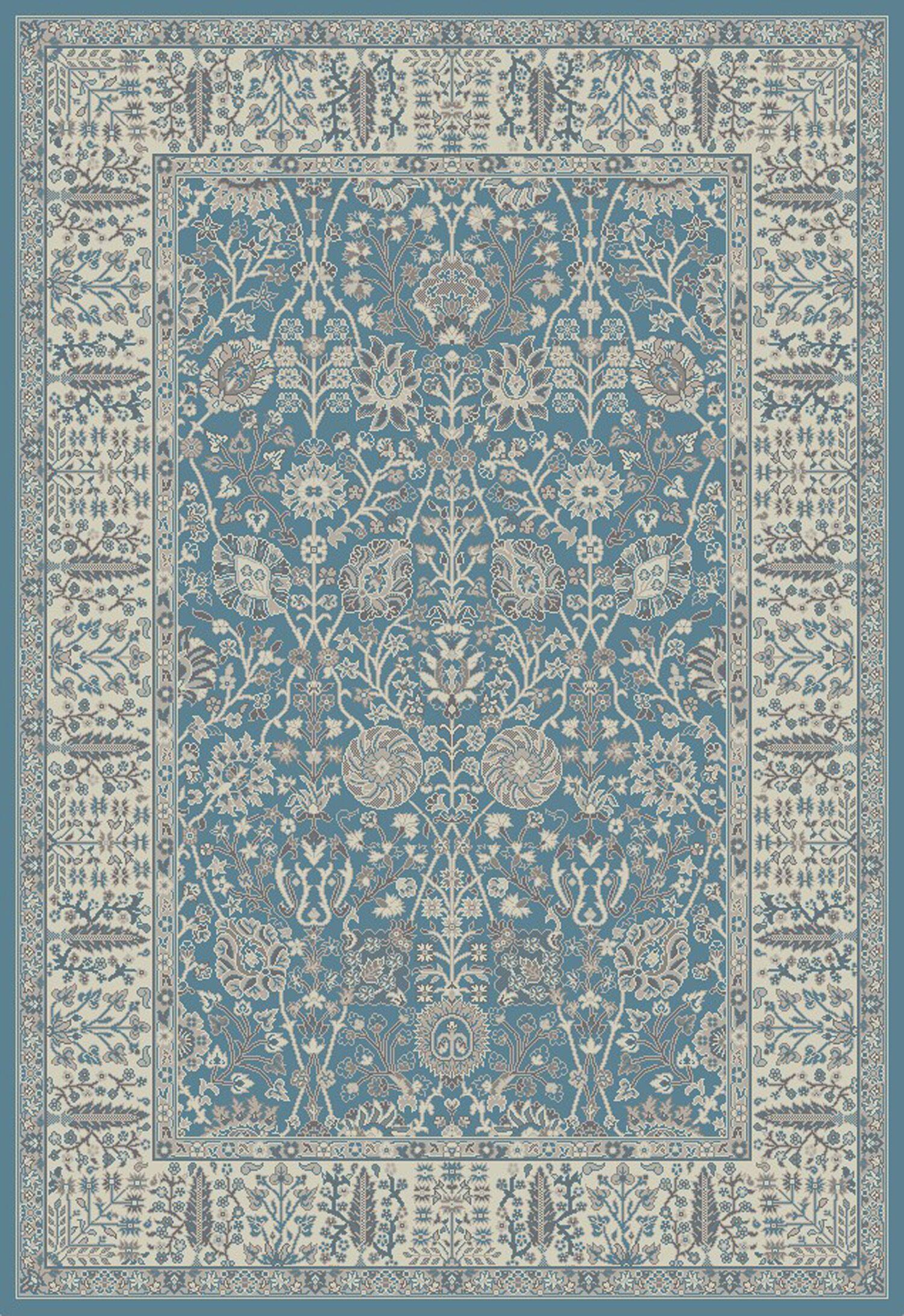 Tannen Garden Blue Area Rug Rug Size: 8' x 10'