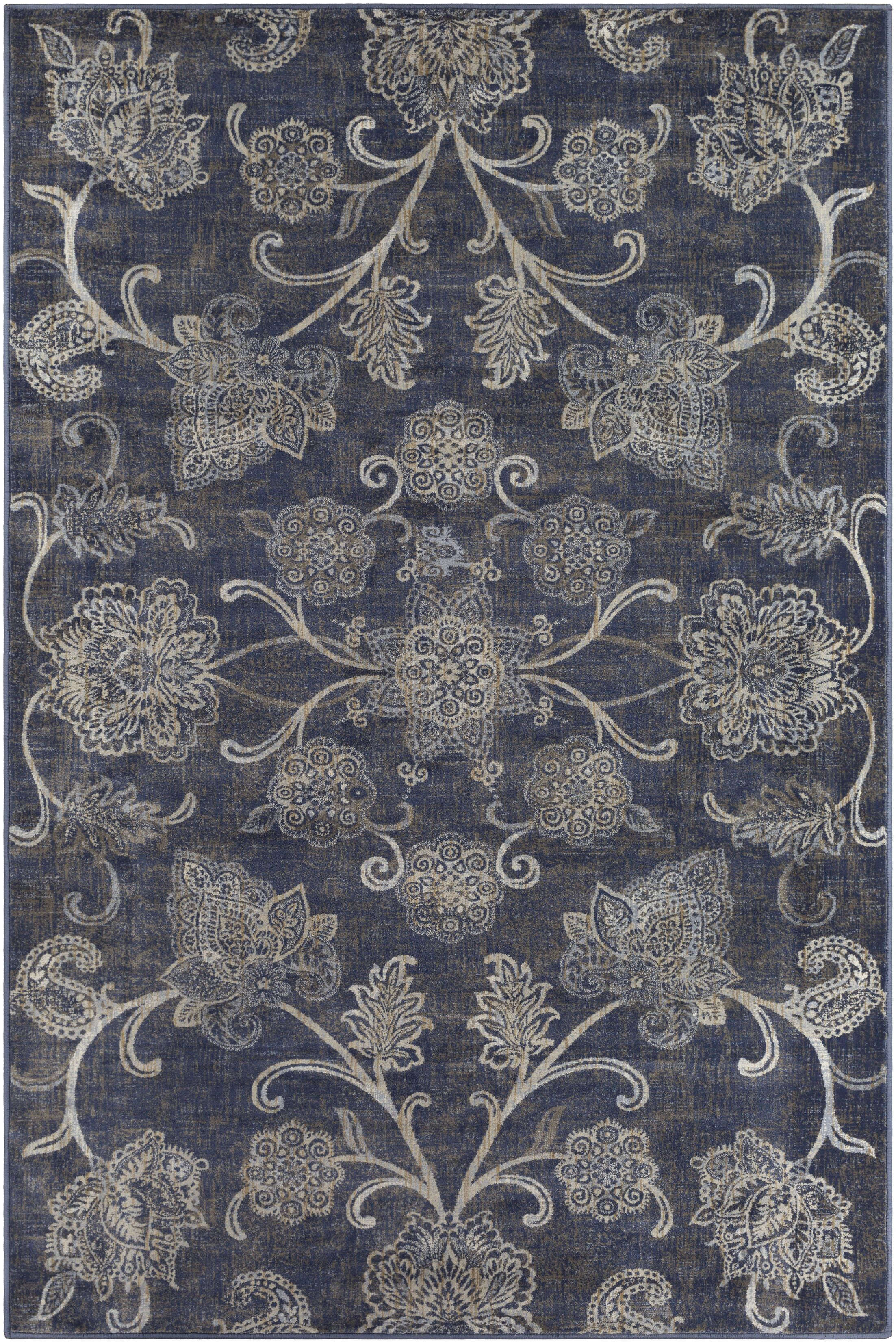 Blue Hill Navy Area Rug Rug Size: Rectangle 5' 3