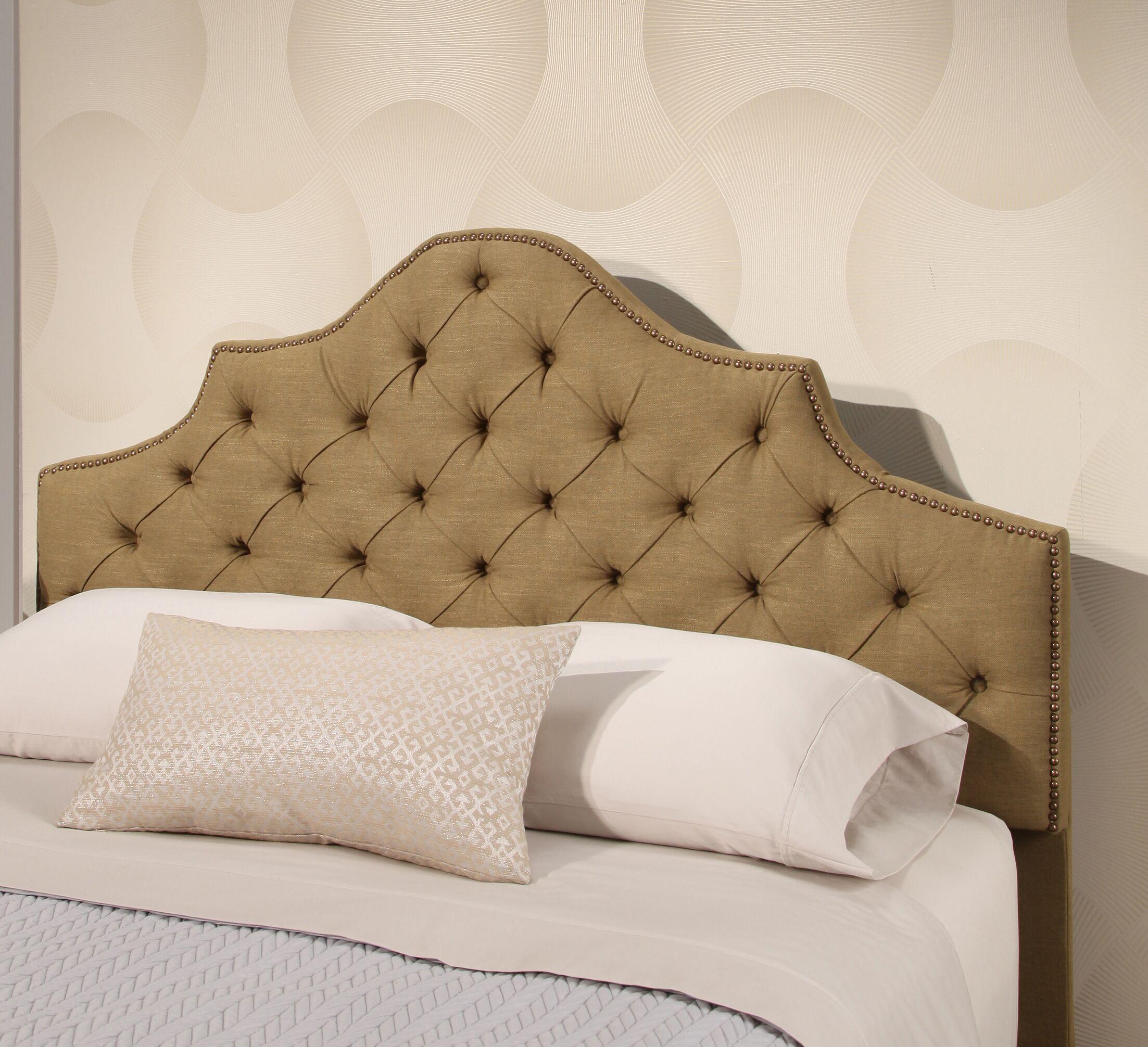 Lakeville Tufted Upholstered Panel Headboard Upholstery: Olive