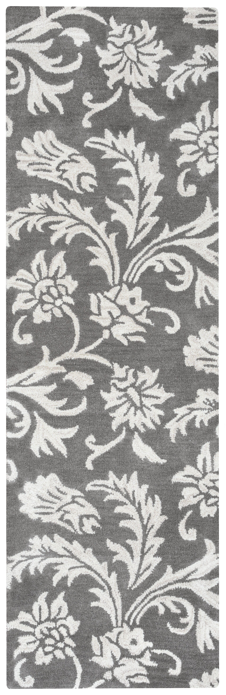 Ostrander Hand-Tufted Gray Area Rug Rug Size: Runner 2'6