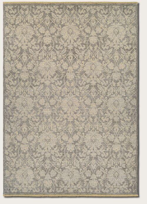 Loretta Grey/Tan Area Rug Rug Size: Rectangle 4'7