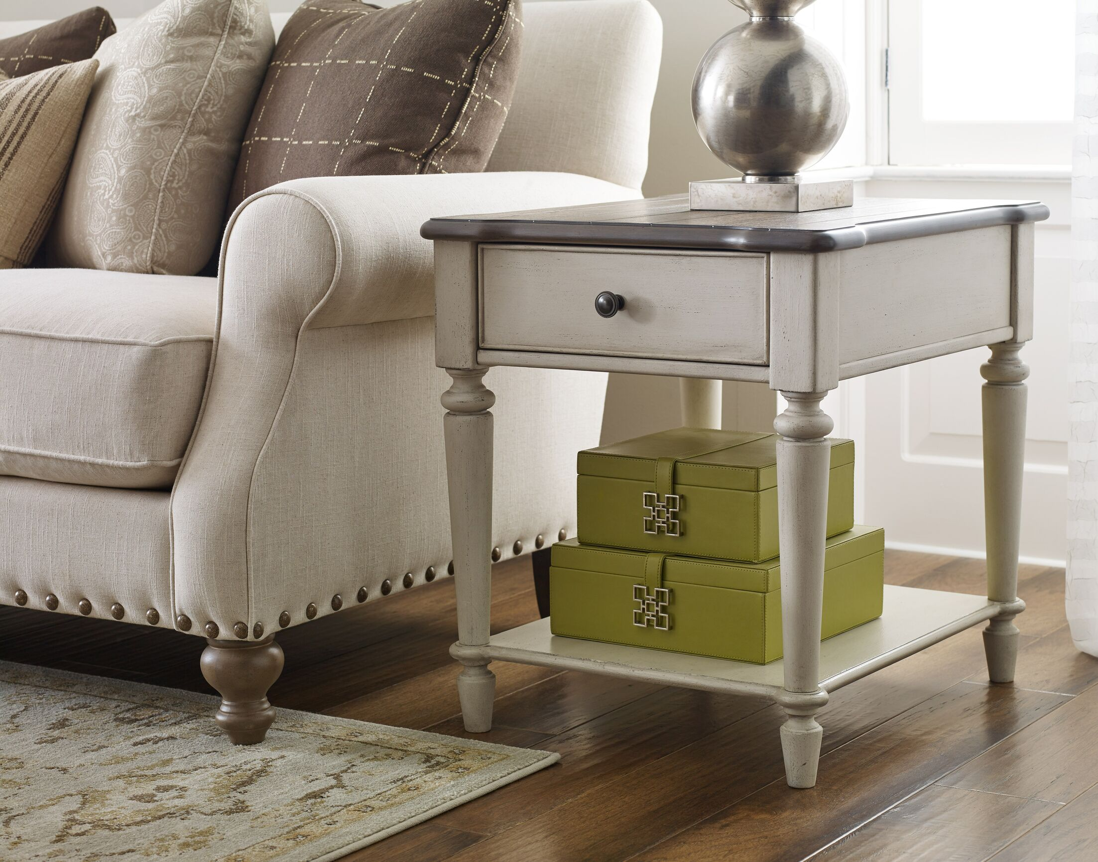 Ornithogale Rectangular End Table