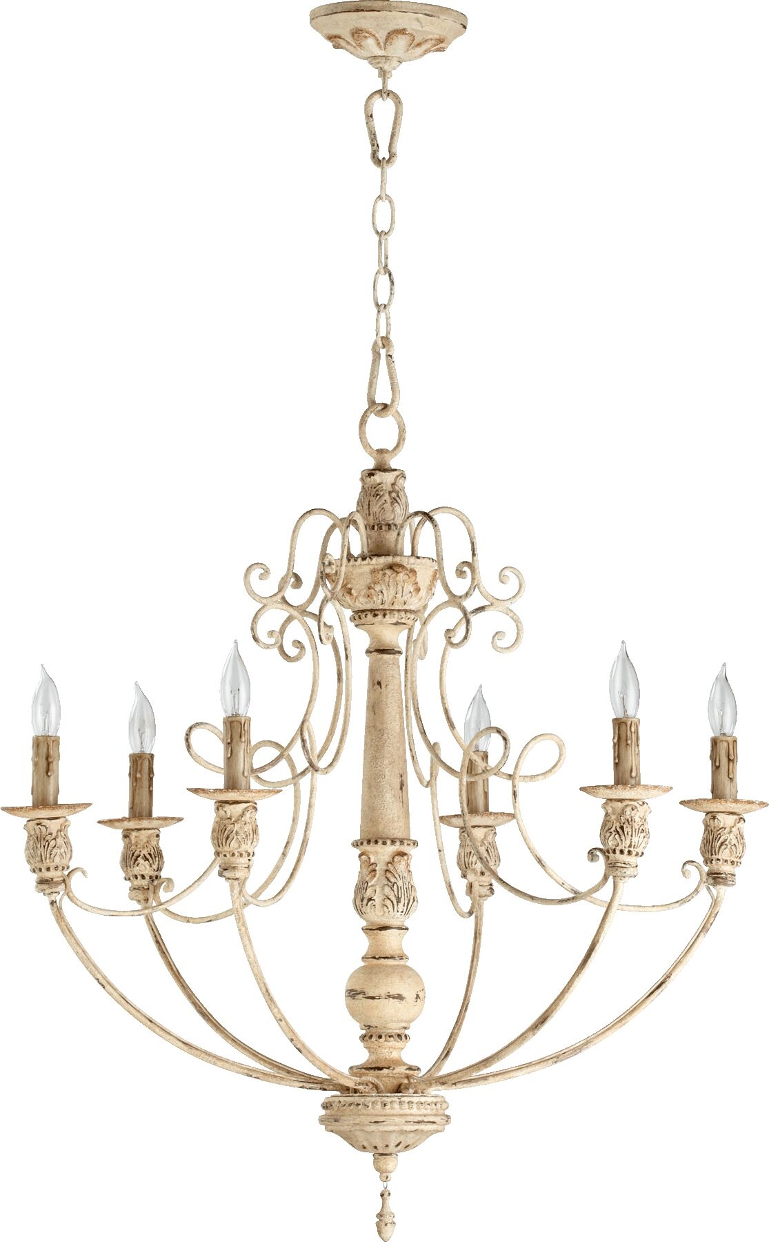 Paladino 6-Light Chandelier Finish: Persian white