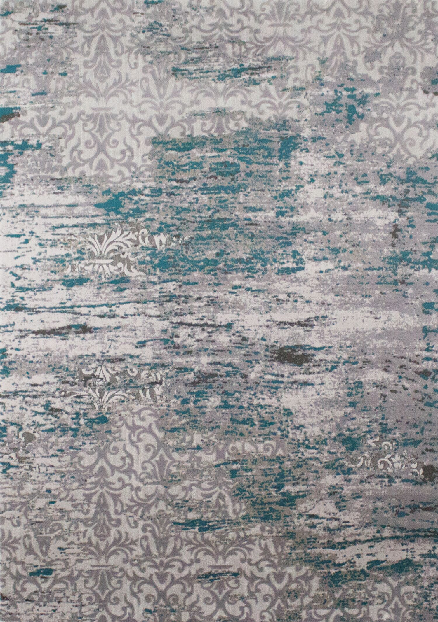 Aminata Distressed Pattern Blue/Gray Area Rug Rug Size: 7'10