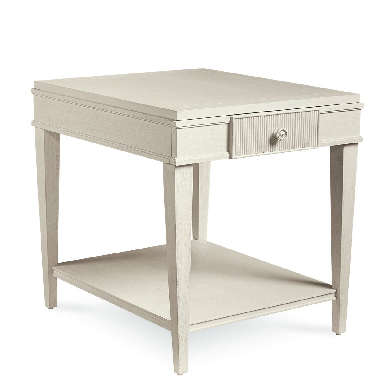 Carrie Drawer End Table Color: White