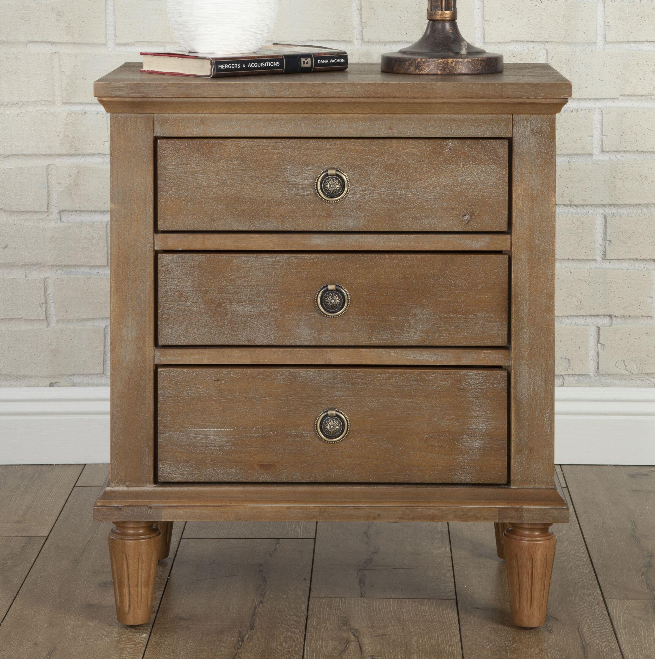 Shirke 3 Drawer Nightstand Color: Oak Gray Wash
