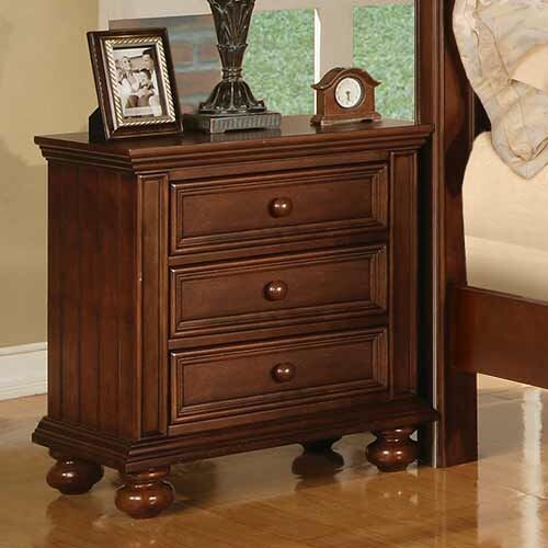 Miami Springs 3 Drawer Nightstand Color: Chocolate