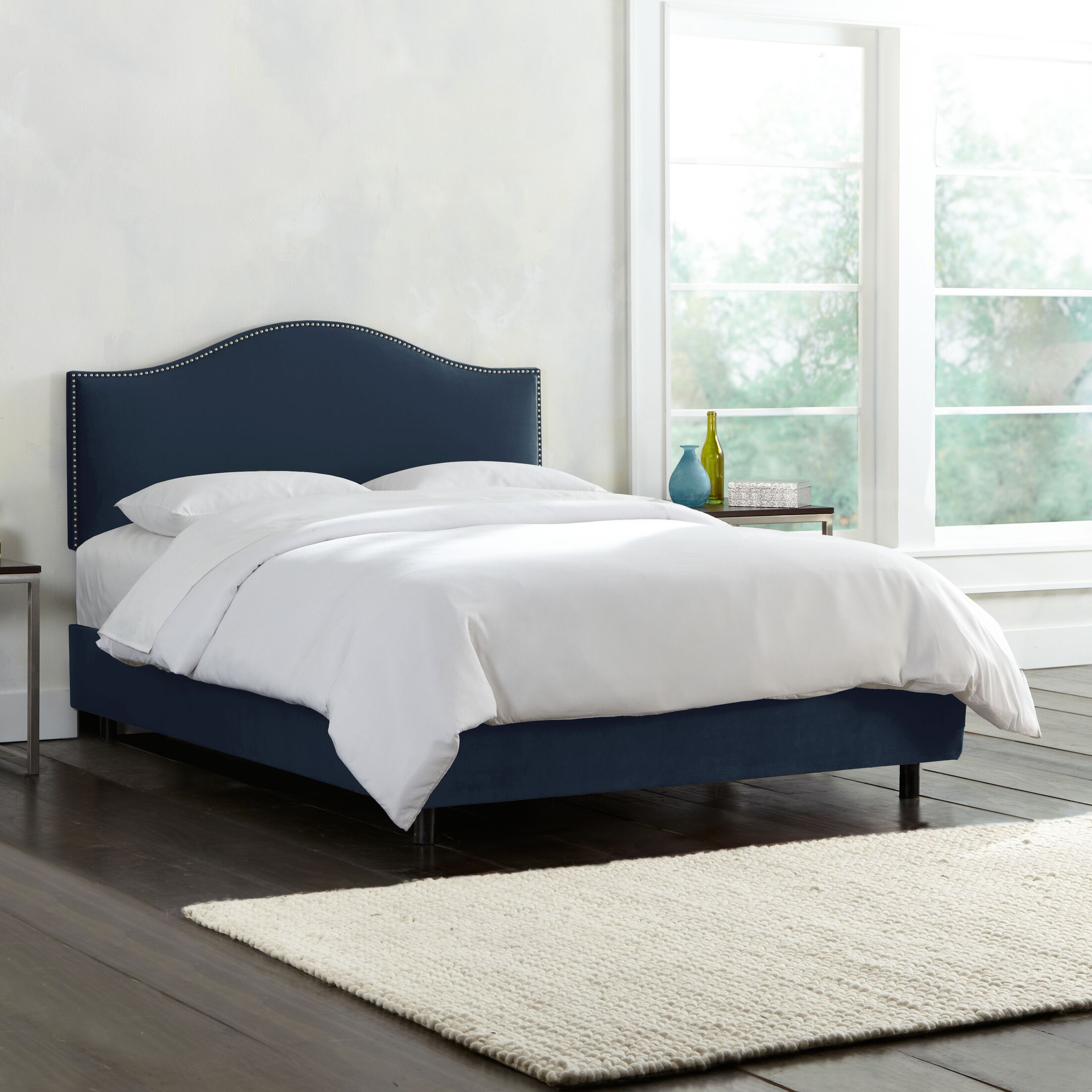 Mystere Nail Button Upholstered Panel Bed Size: California King, Color: Eclipse