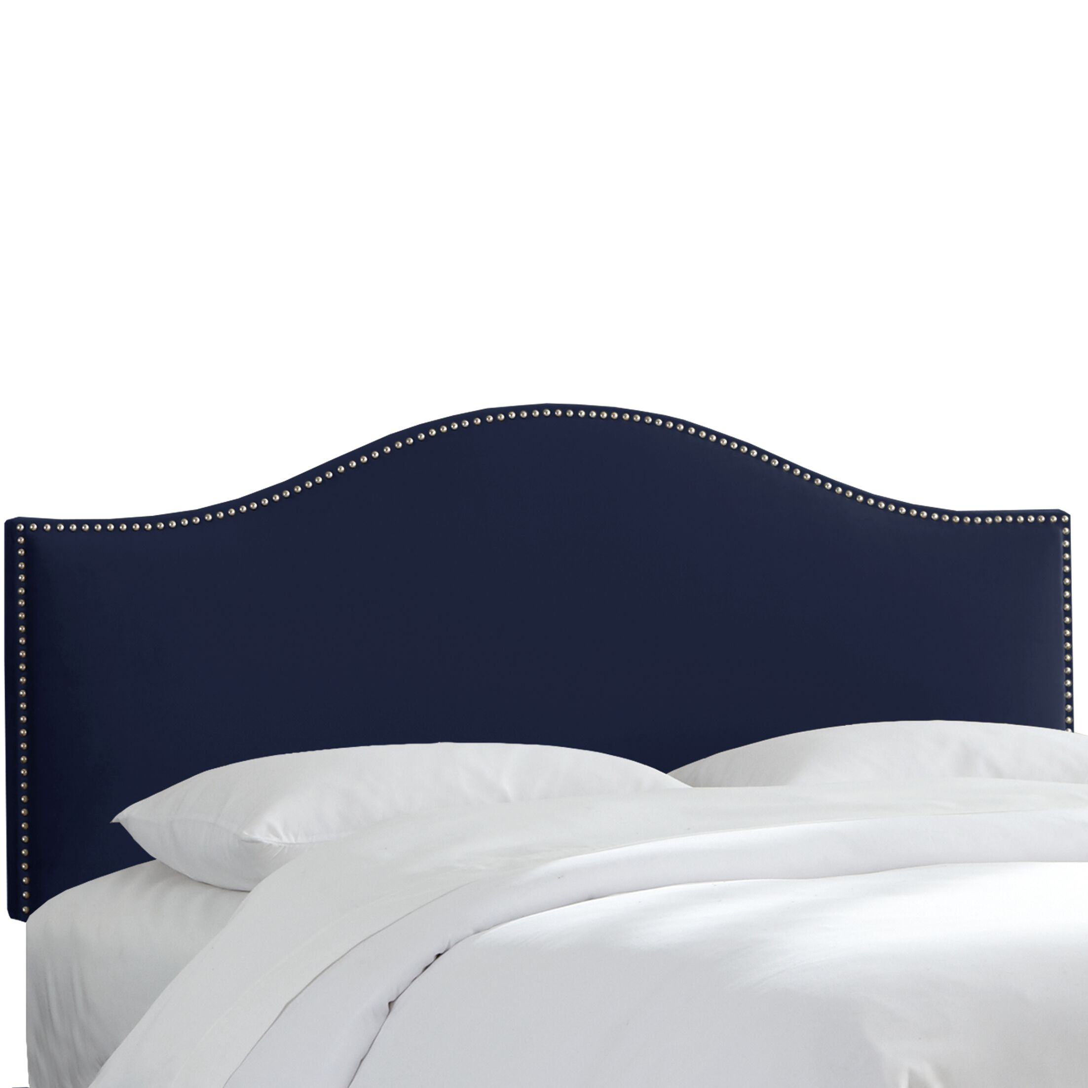 Caja Upholstered Panel Headboard Upholstery: Navy, Size: Twin