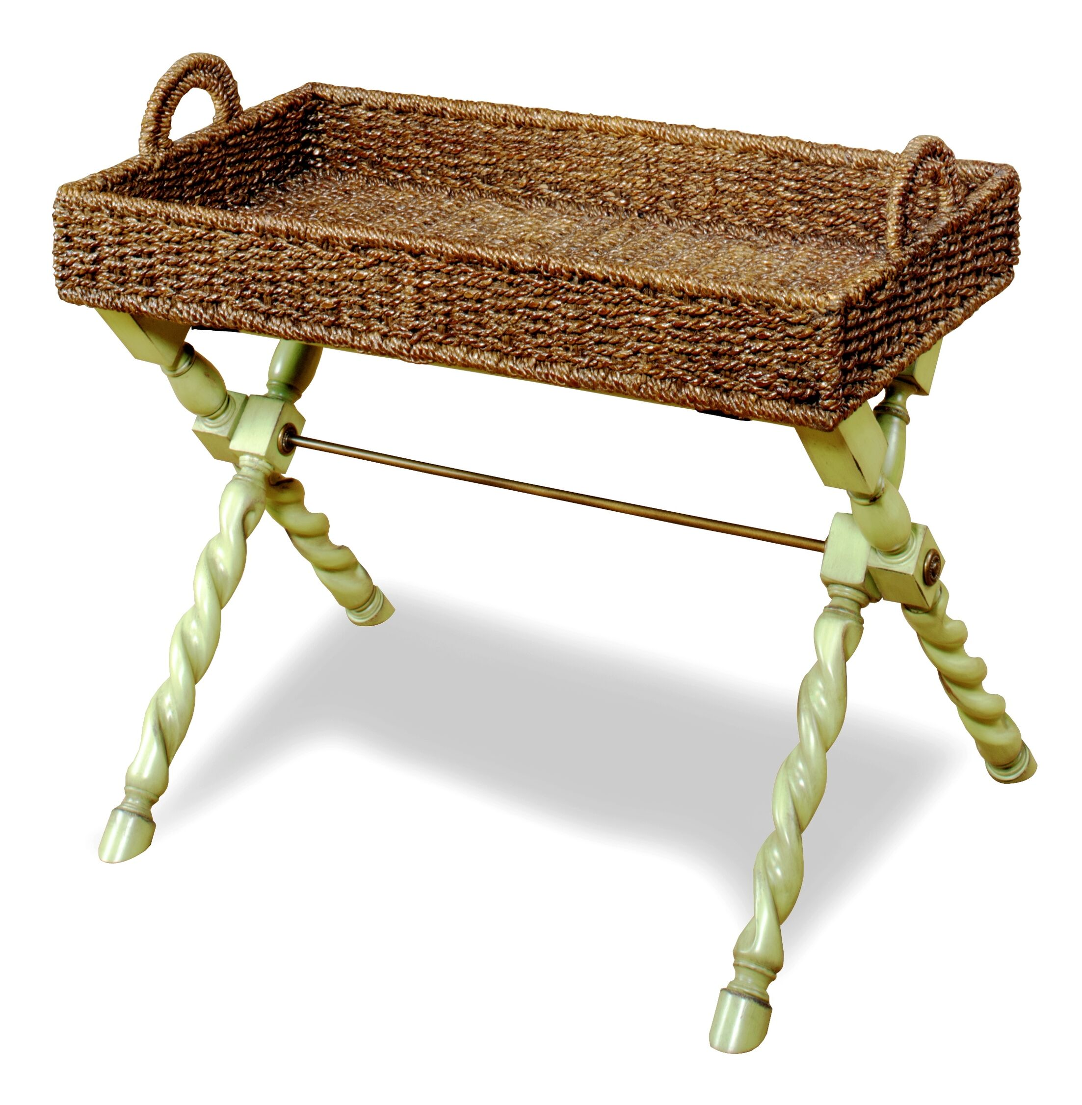 Hadassah Chairside Table Color: Tea Stain / Green Apple