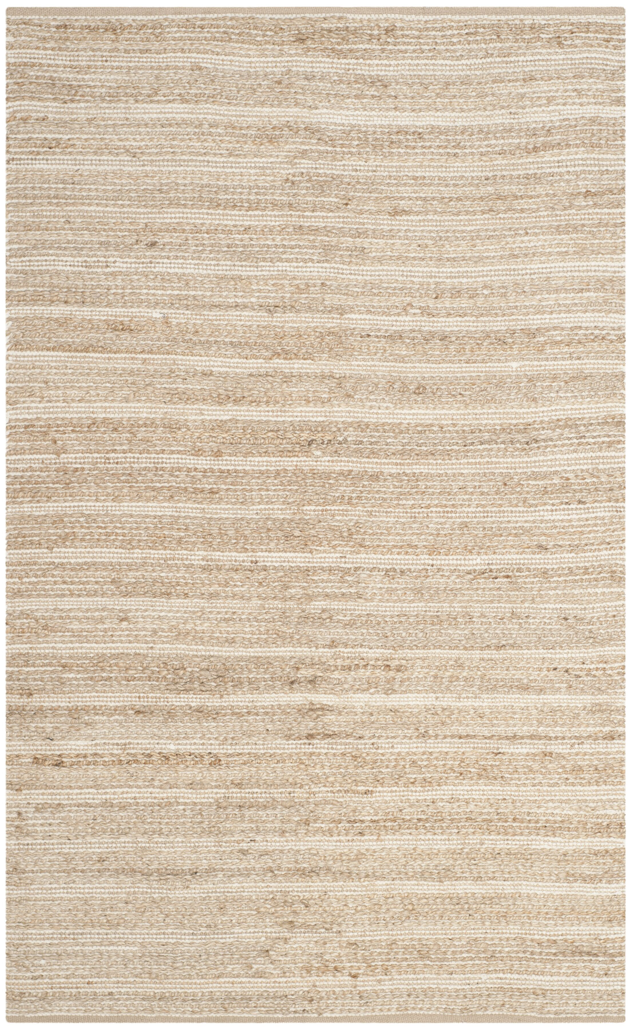 Arria Hand-Woven Rectangle Natural/Ivory Area Rug Rug Size: Rectangle 8' x 10'