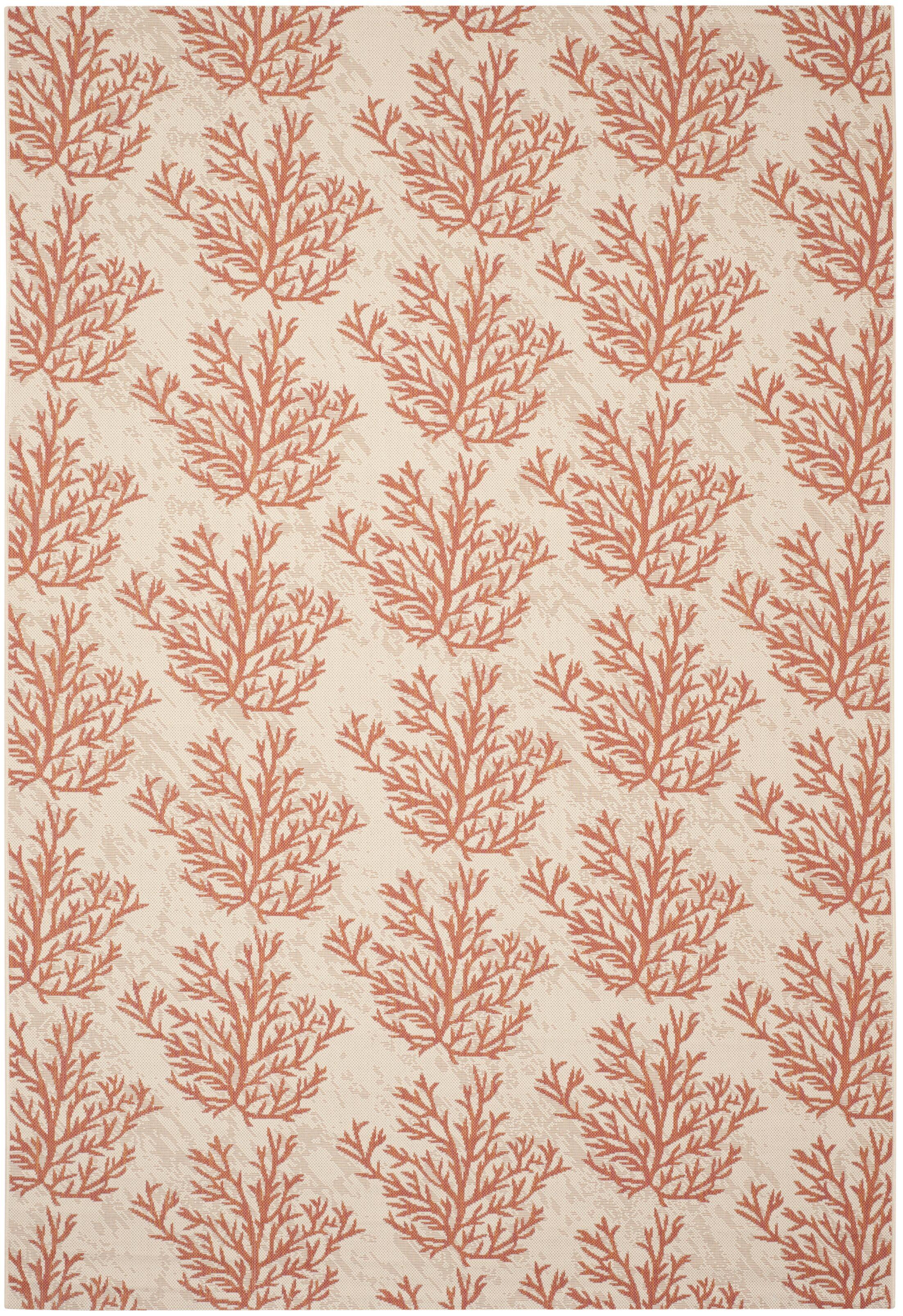 Inverness Highlands Beige & Terracotta Area Rug Rug Size: Rectangle 6'7