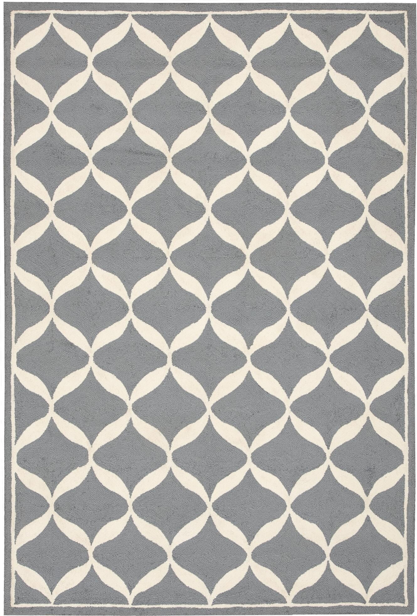 Sidonie Hand-Tufted Slate/White Area Rug Rug Size: Rectangle 5' x 7'