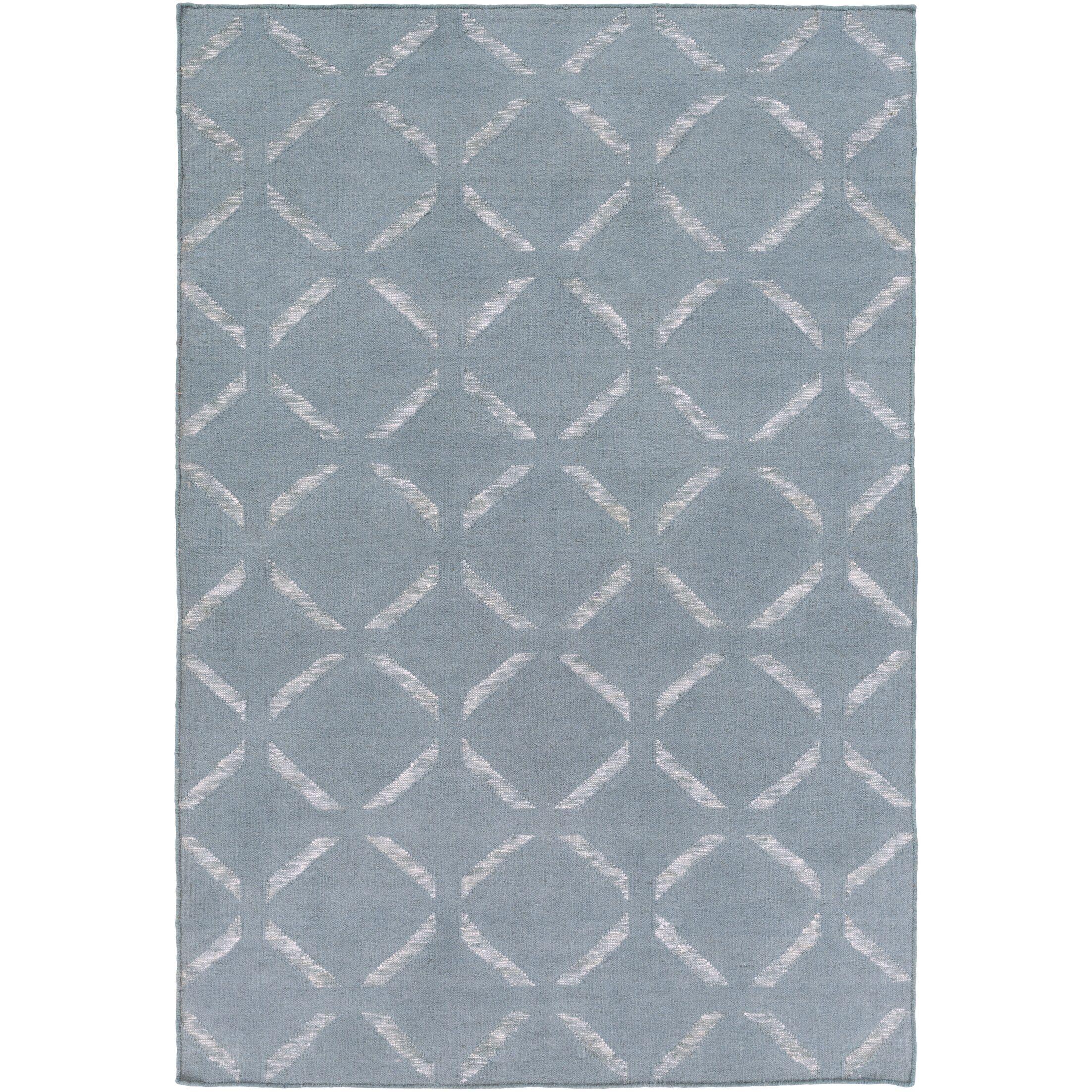 Chesterton Hand Woven Blue Area Rug Rug Size: Rectangle 4' x 6'