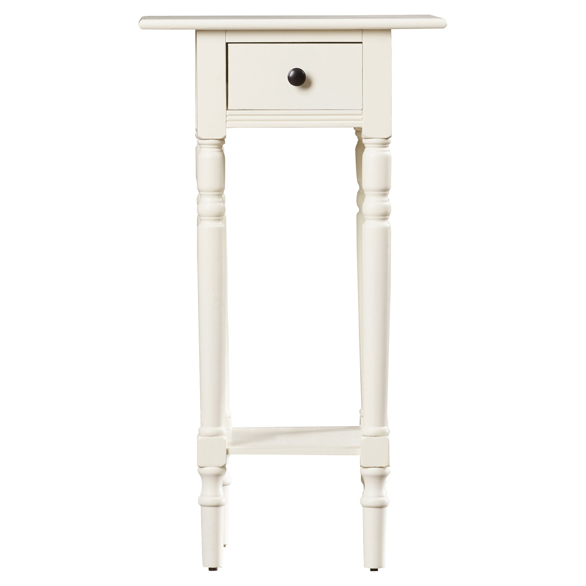 Amityville End Table With Storage Color: Distressed Cream