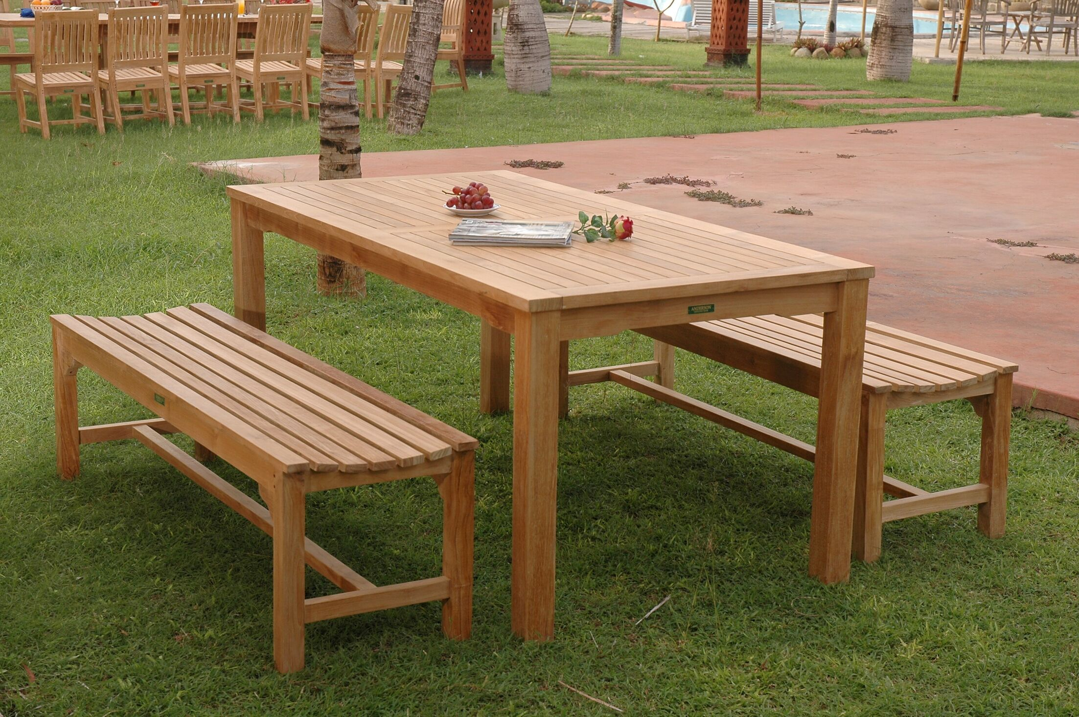 Farnam 3 Piece Teak Dining Set