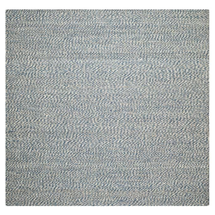Abrielle Natural Fiber Hand-Woven Blue/Ivory Indoor Area Rug Rug Size: Square 6'