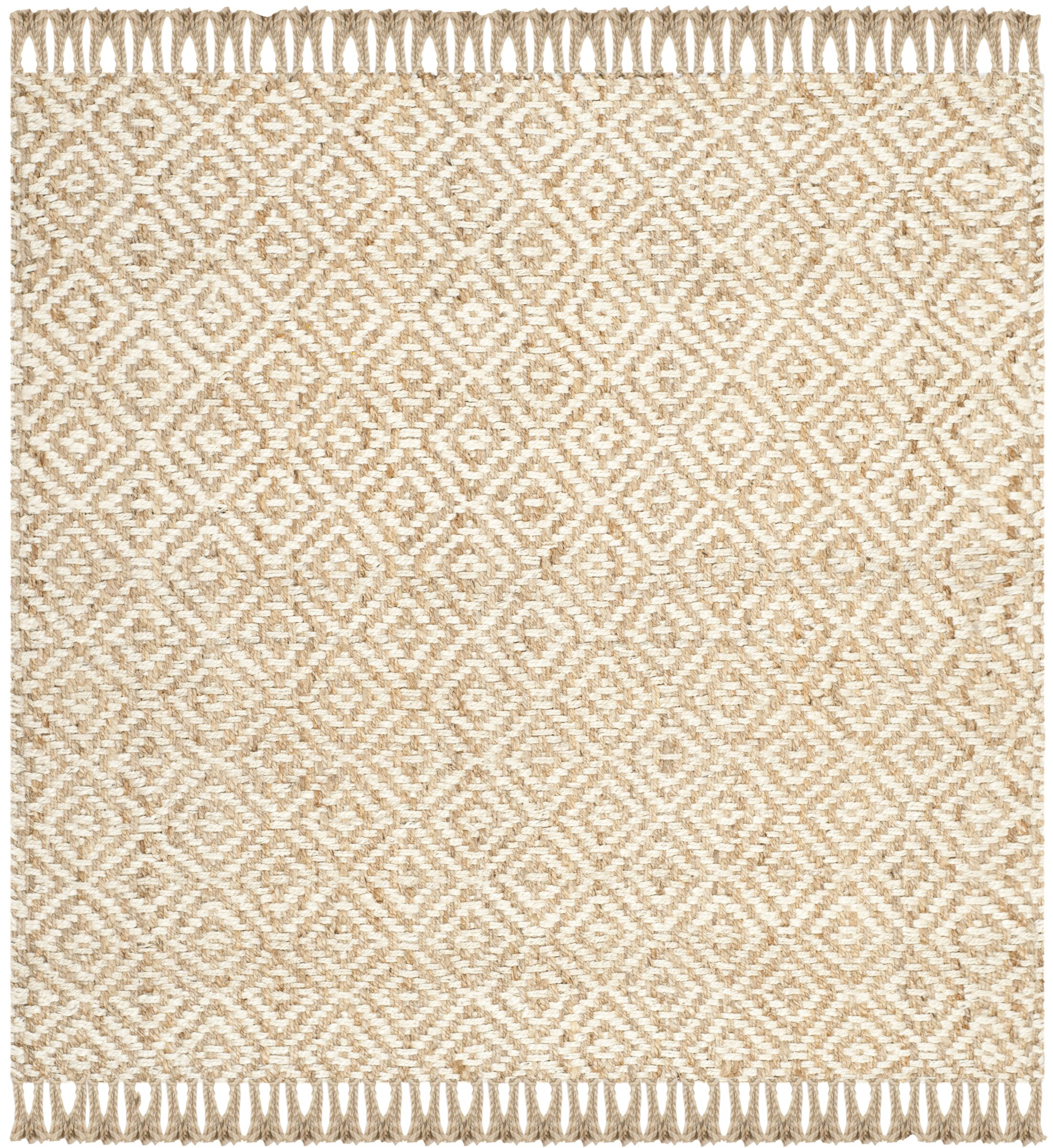 Monagra Handmade Natural/Ivory Natural Fiber Area Rug Rug Size: Square 8'