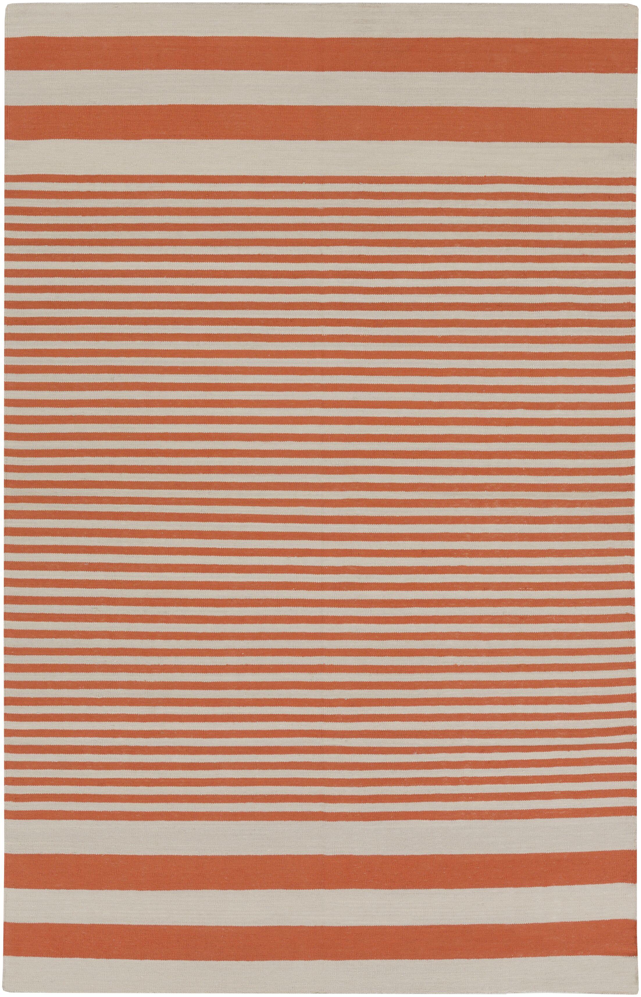 Kinslee Rust Stripe Area Rug Rug Size: Rectangle 5' x 8'
