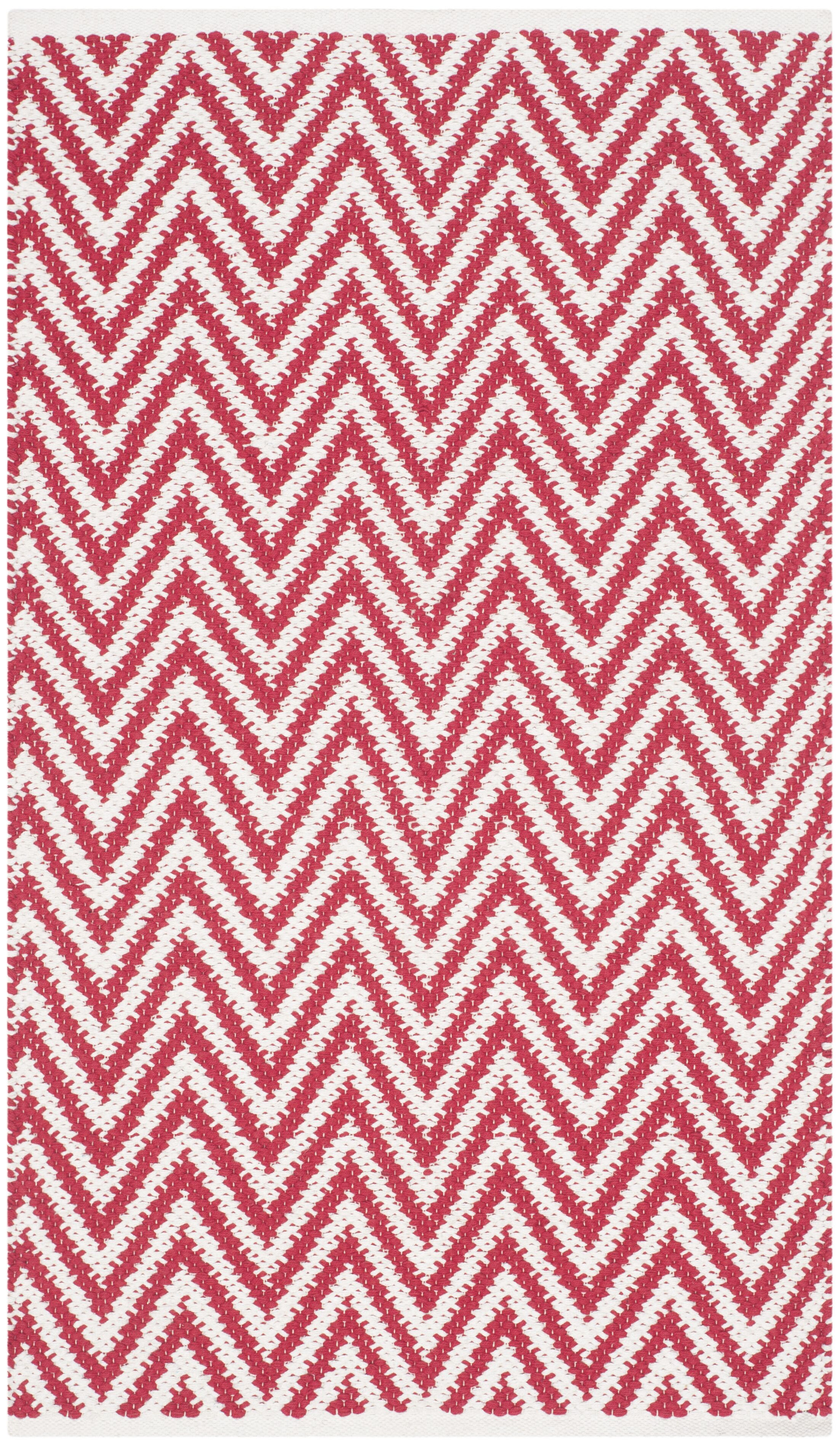 Whitton Hand-woven Red/Ivory Area Rug Rug Size: Rectangle 5' x 7'
